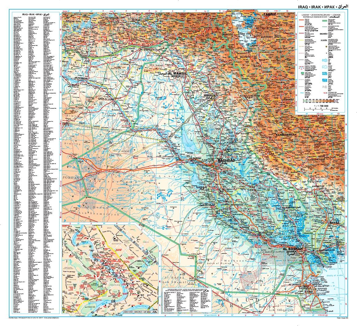 Irak áttekintõ térkép
