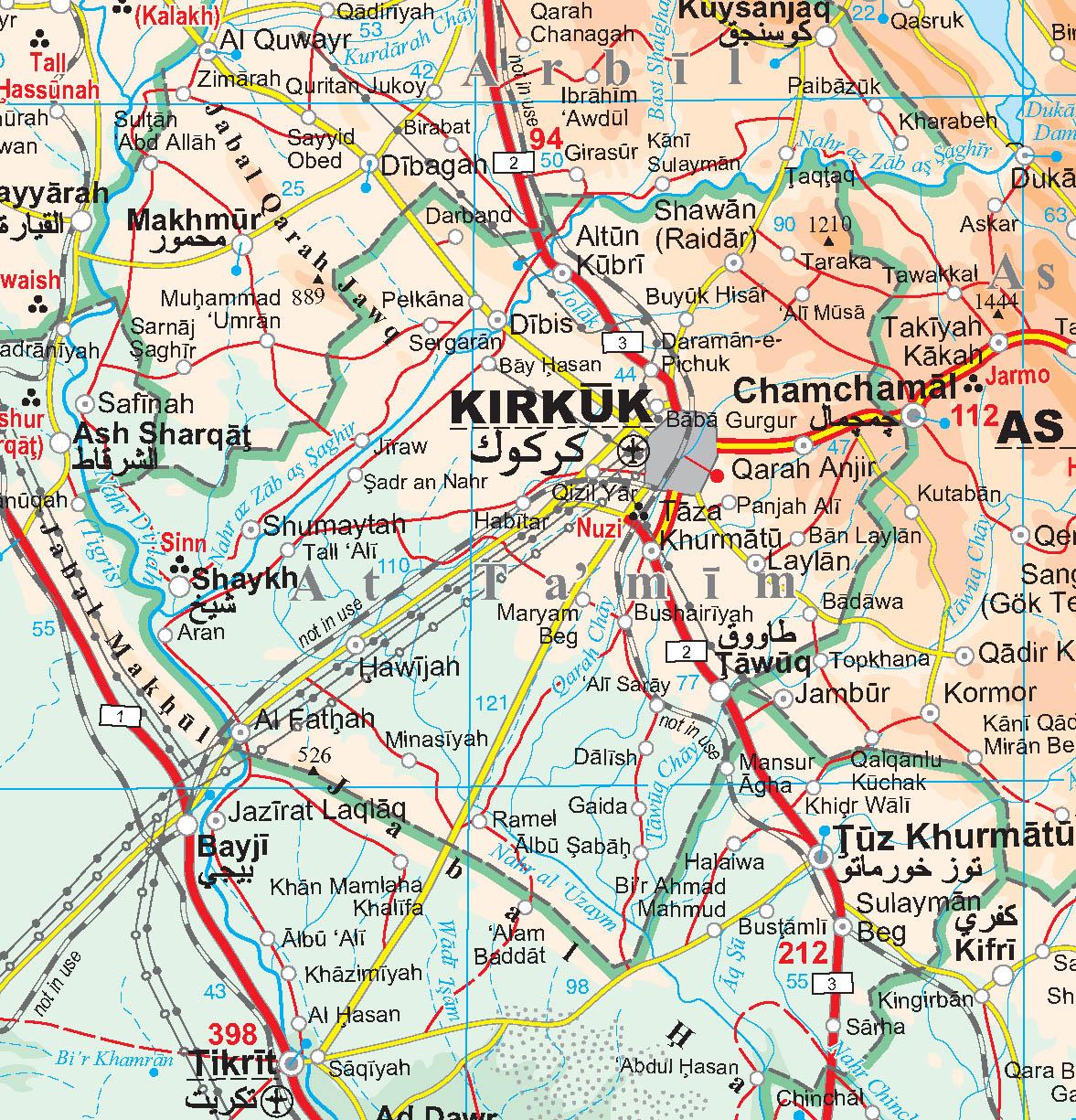 Irak térkép minta