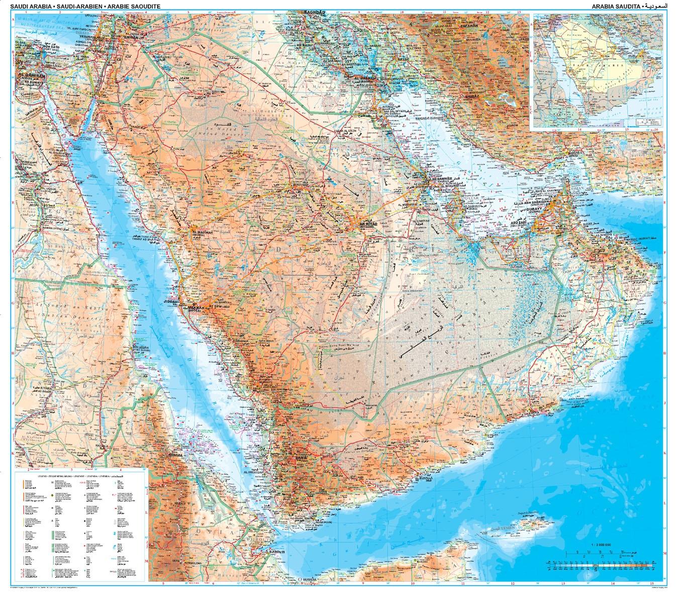 Szaúd-Arábia: áttekintõ térkép
