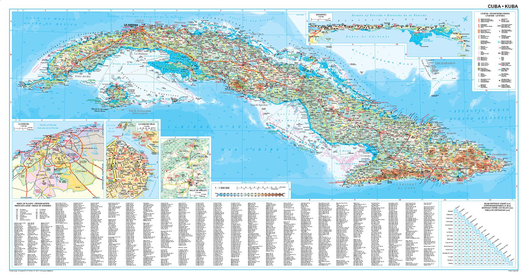 Kuba: áttekintõ térkép