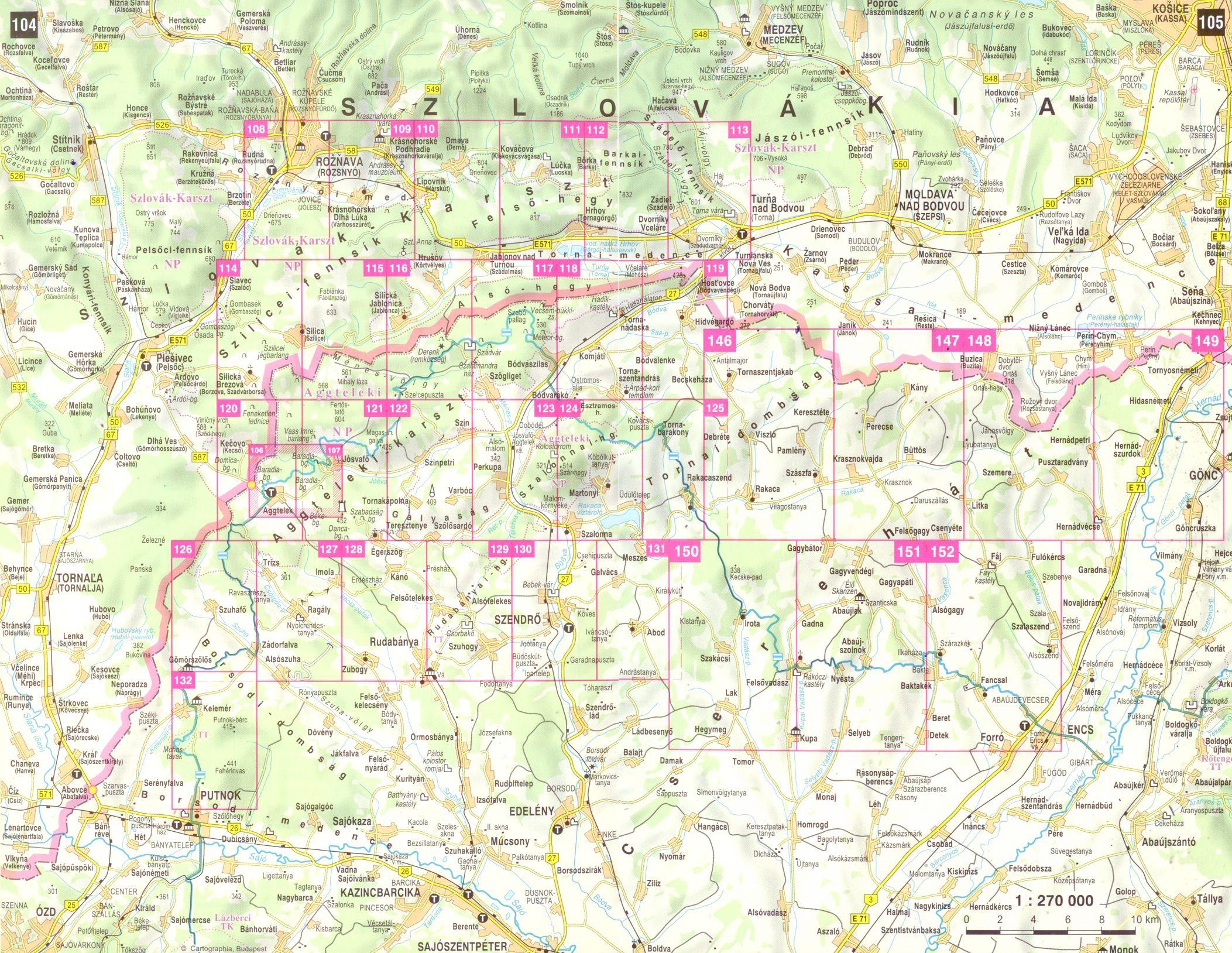 Gömör-Tornai-kaszt, Cserehát atlasz áttekintő térképe