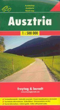 Részletes autótérkép turista információkkal, kulturális ismertetővel és a postai irányítószámokat is tartalmazó településjegyzékkel
