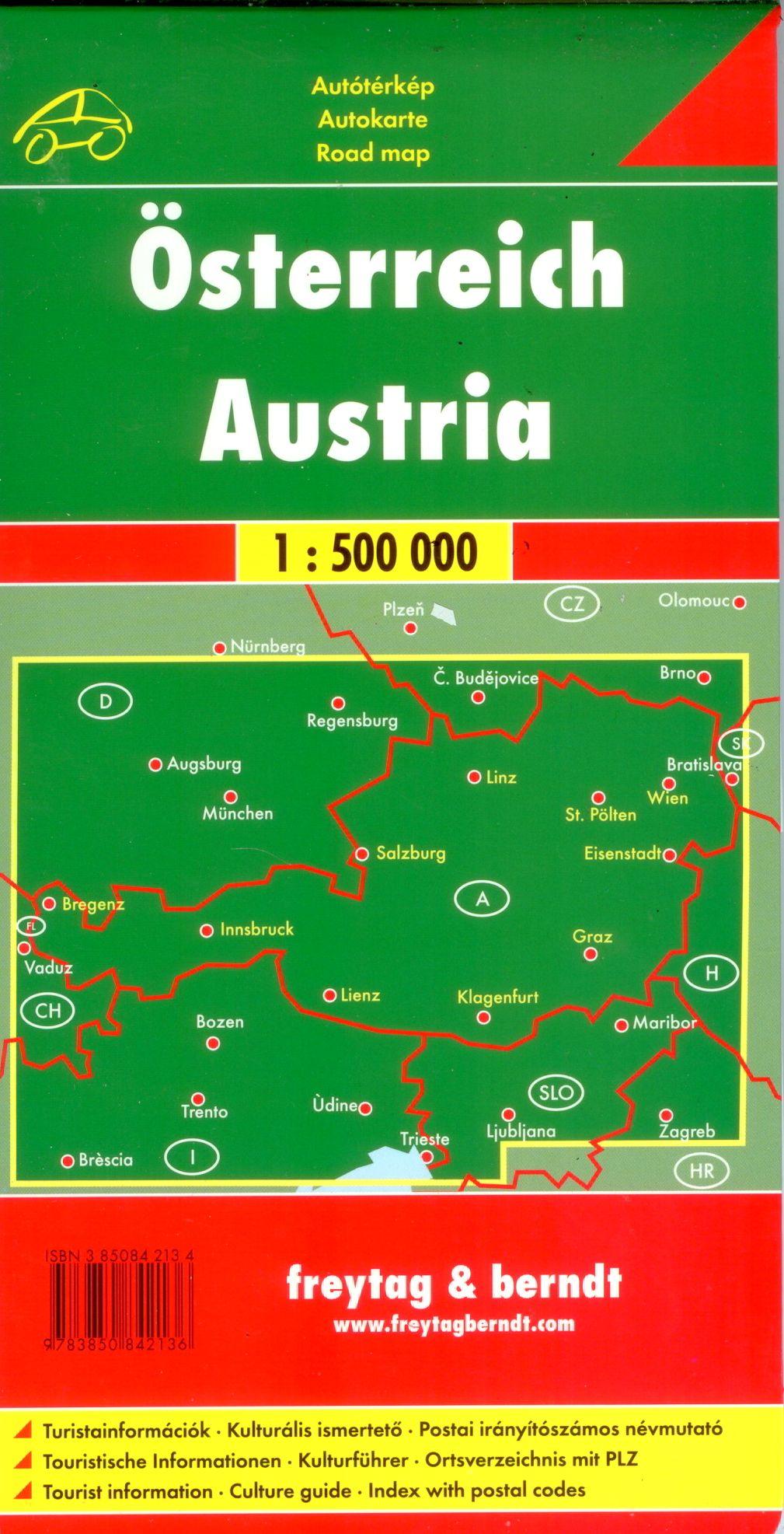 Az Ausztria térkép által lefedett terület