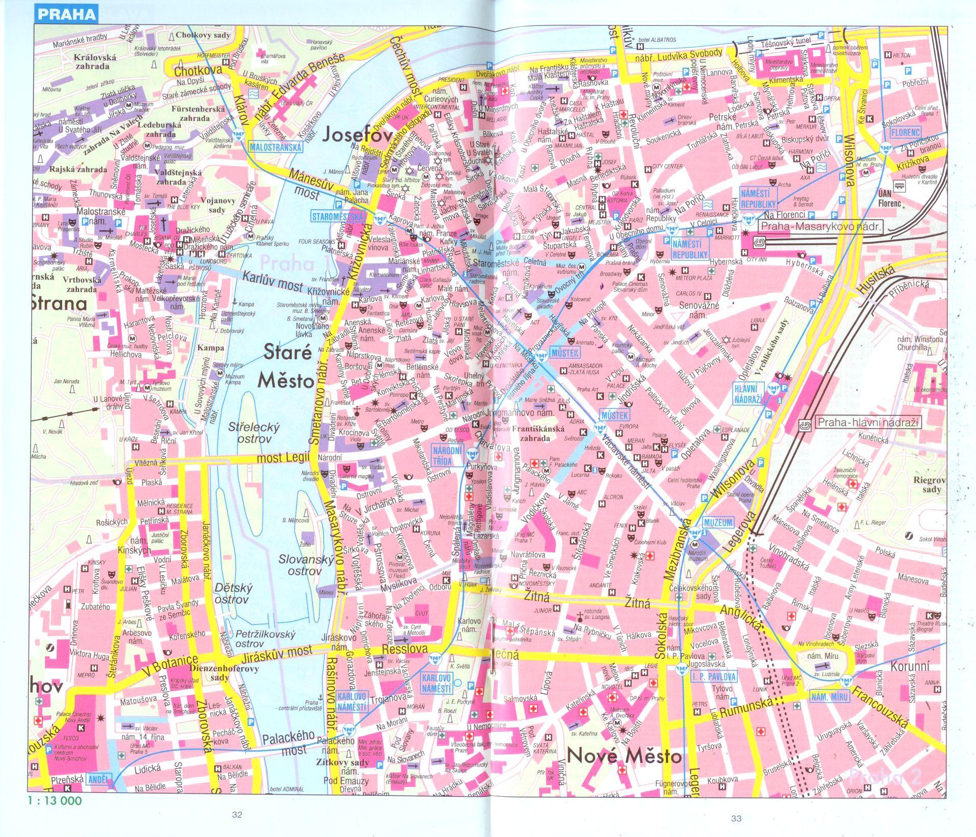 Csehország: várostérkép minta