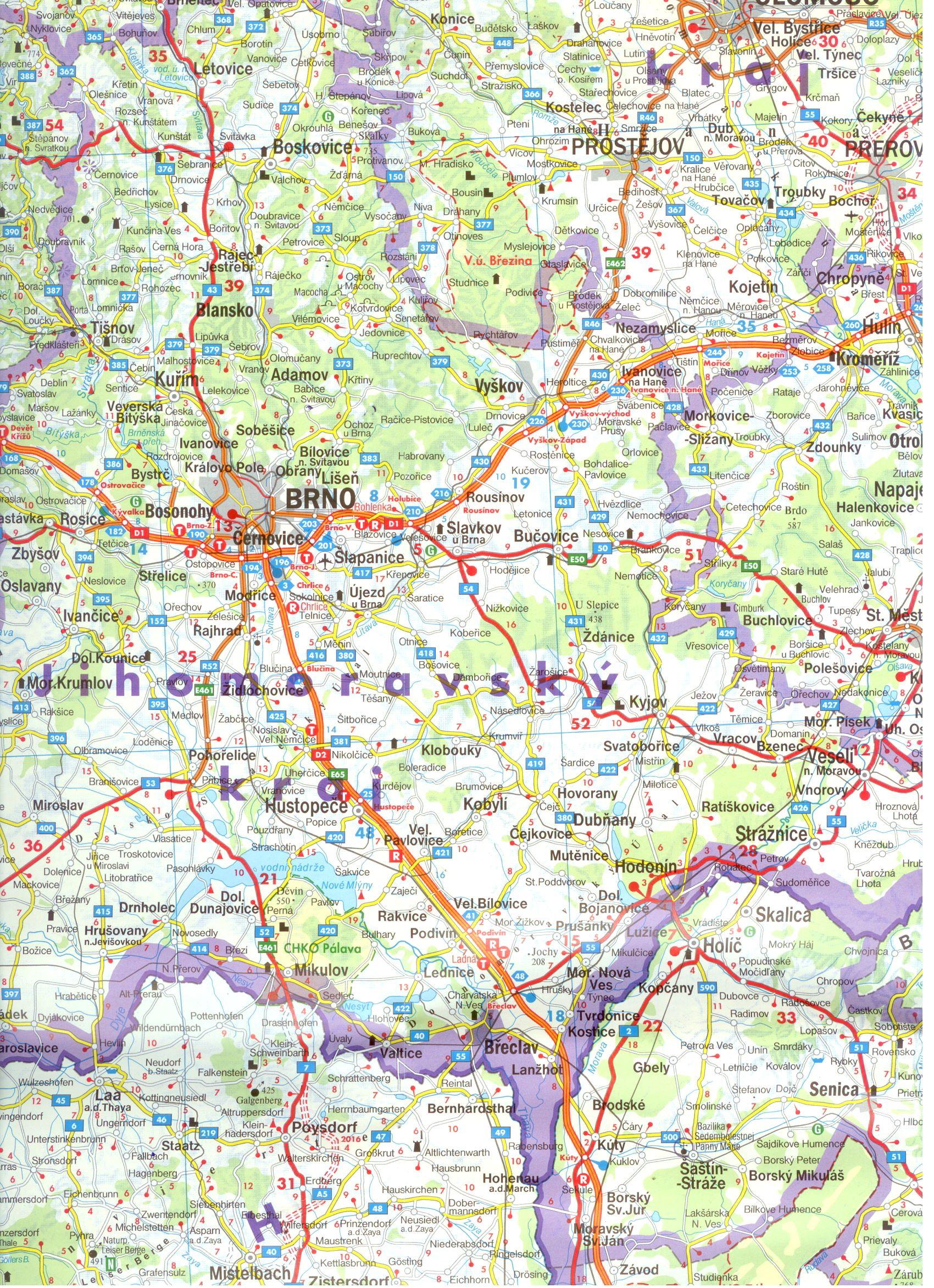 A Csehország-Szlovákia térkép mintája