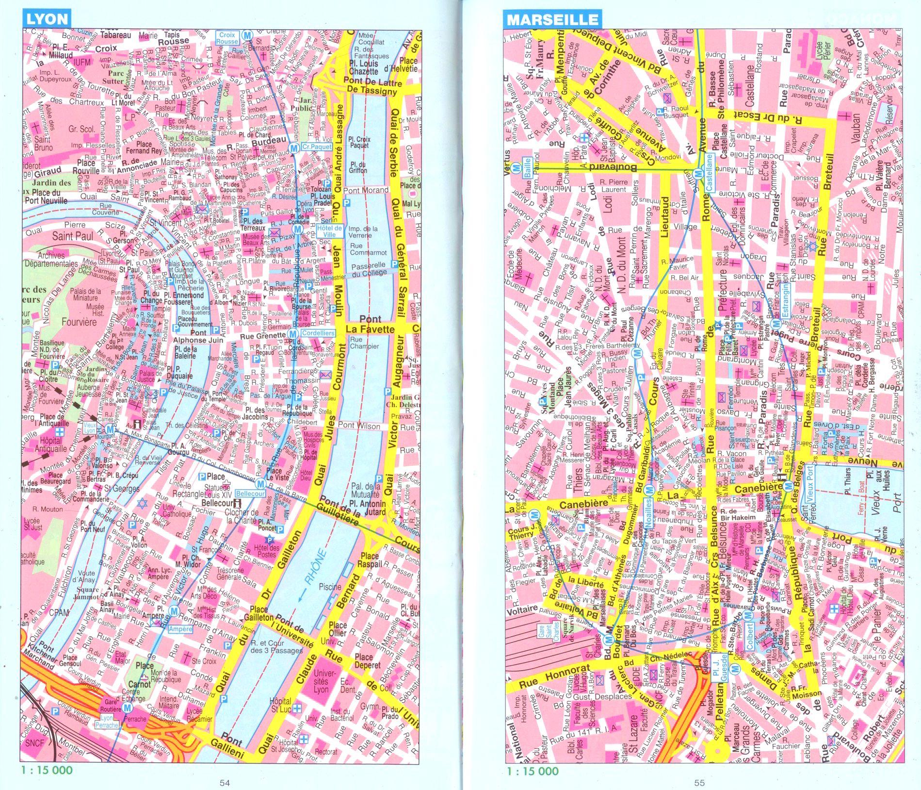 Franciaország: várostérkép minta