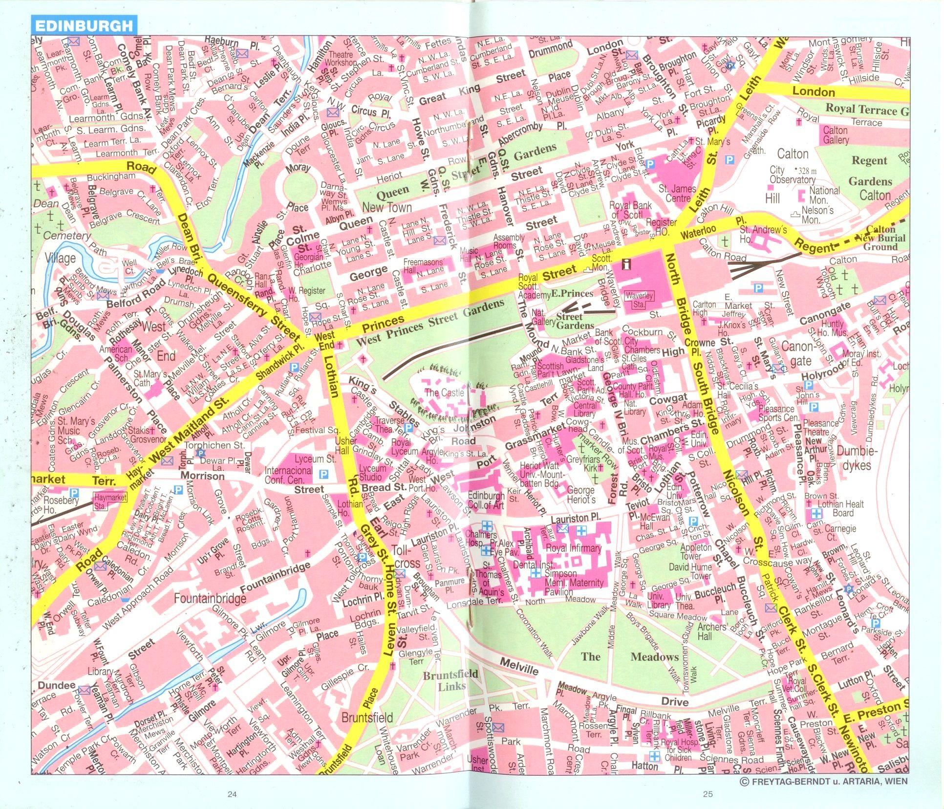 Nagy-Britannia, Írország: várostérkép minta