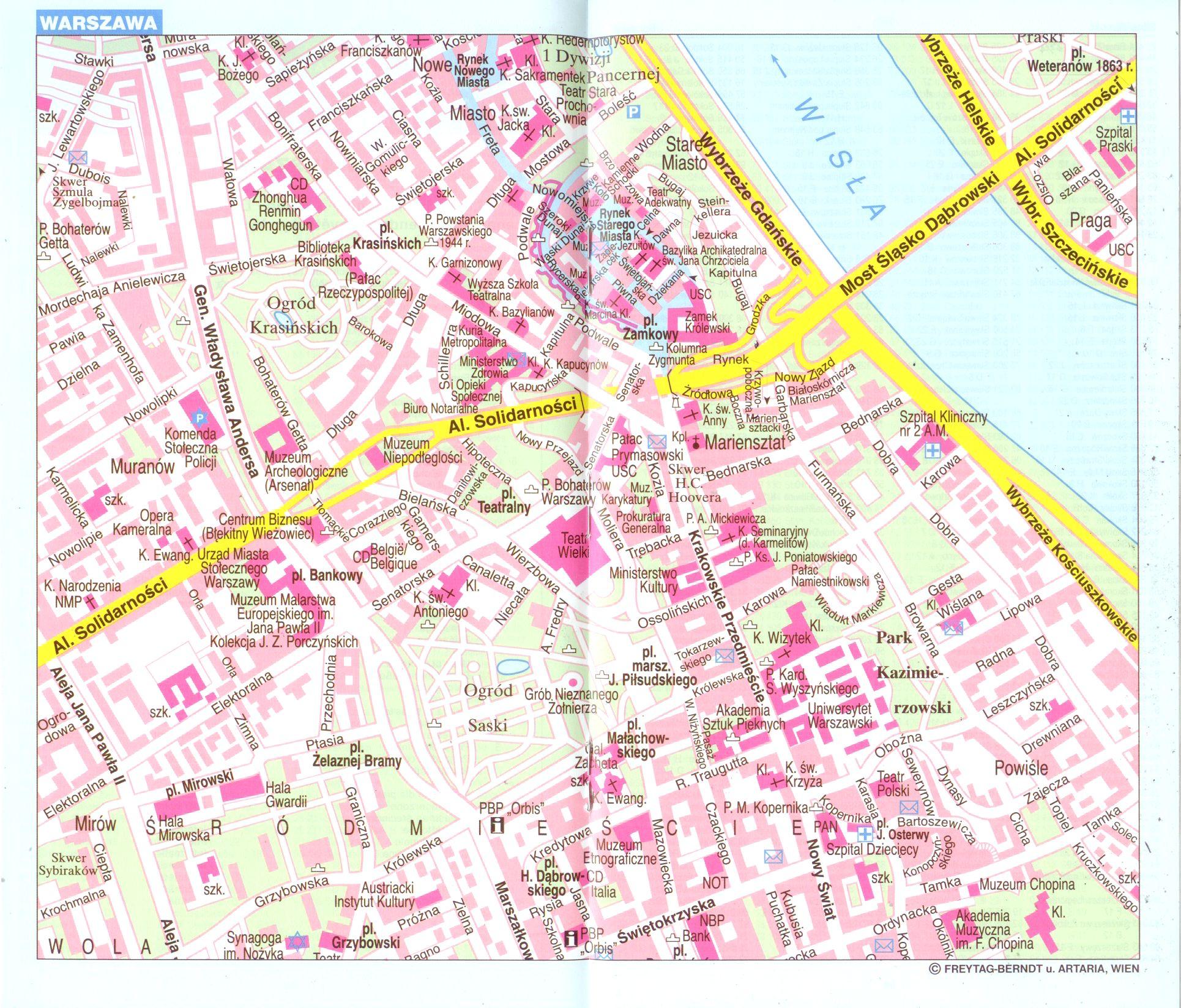 Lengyelország várostérkép minta