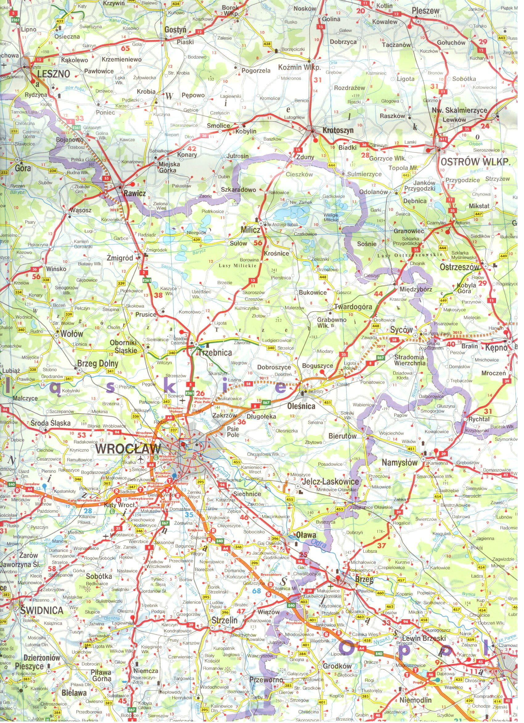Lengyelország térkép minta