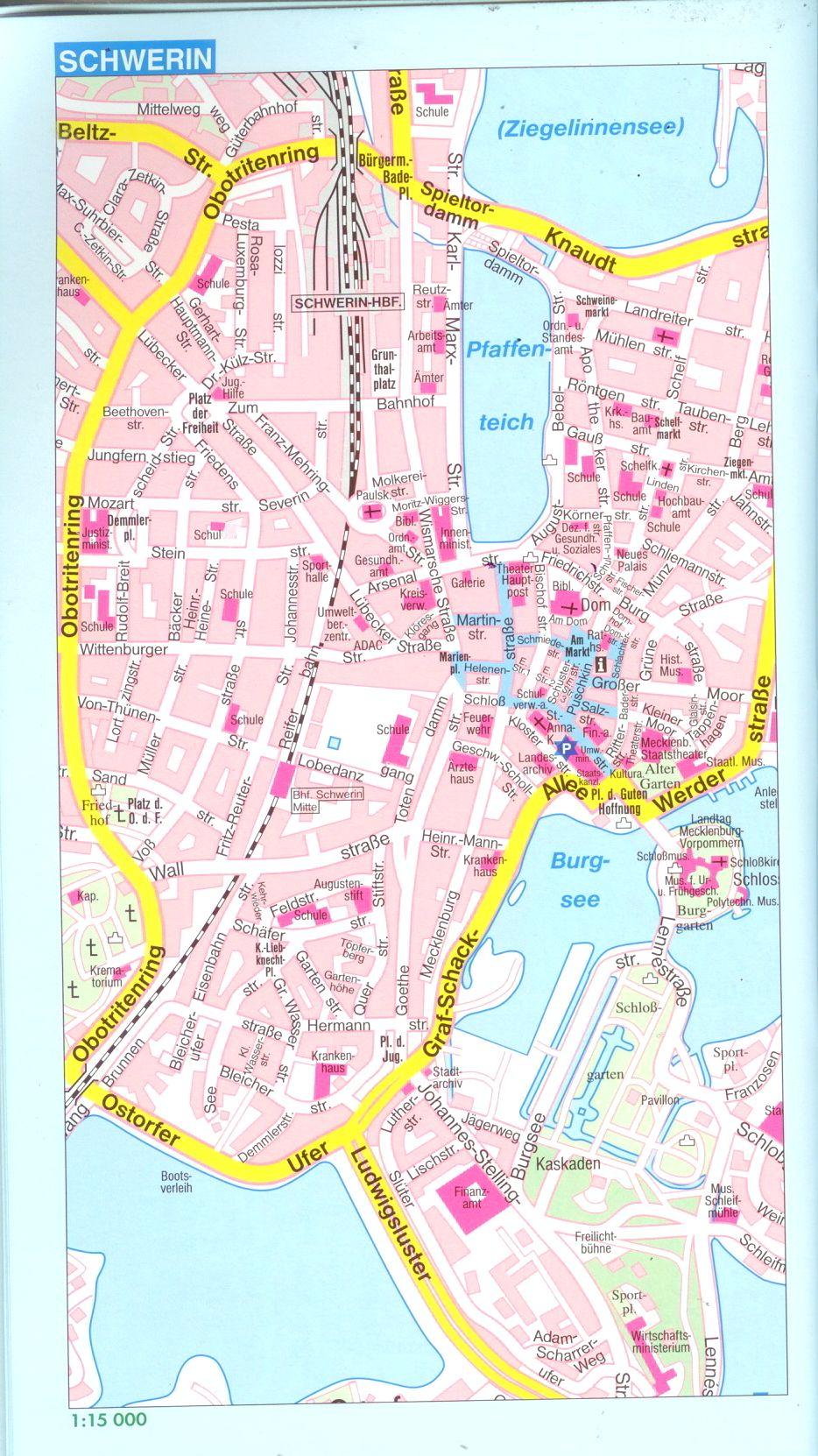 Németország: várostérkép minta