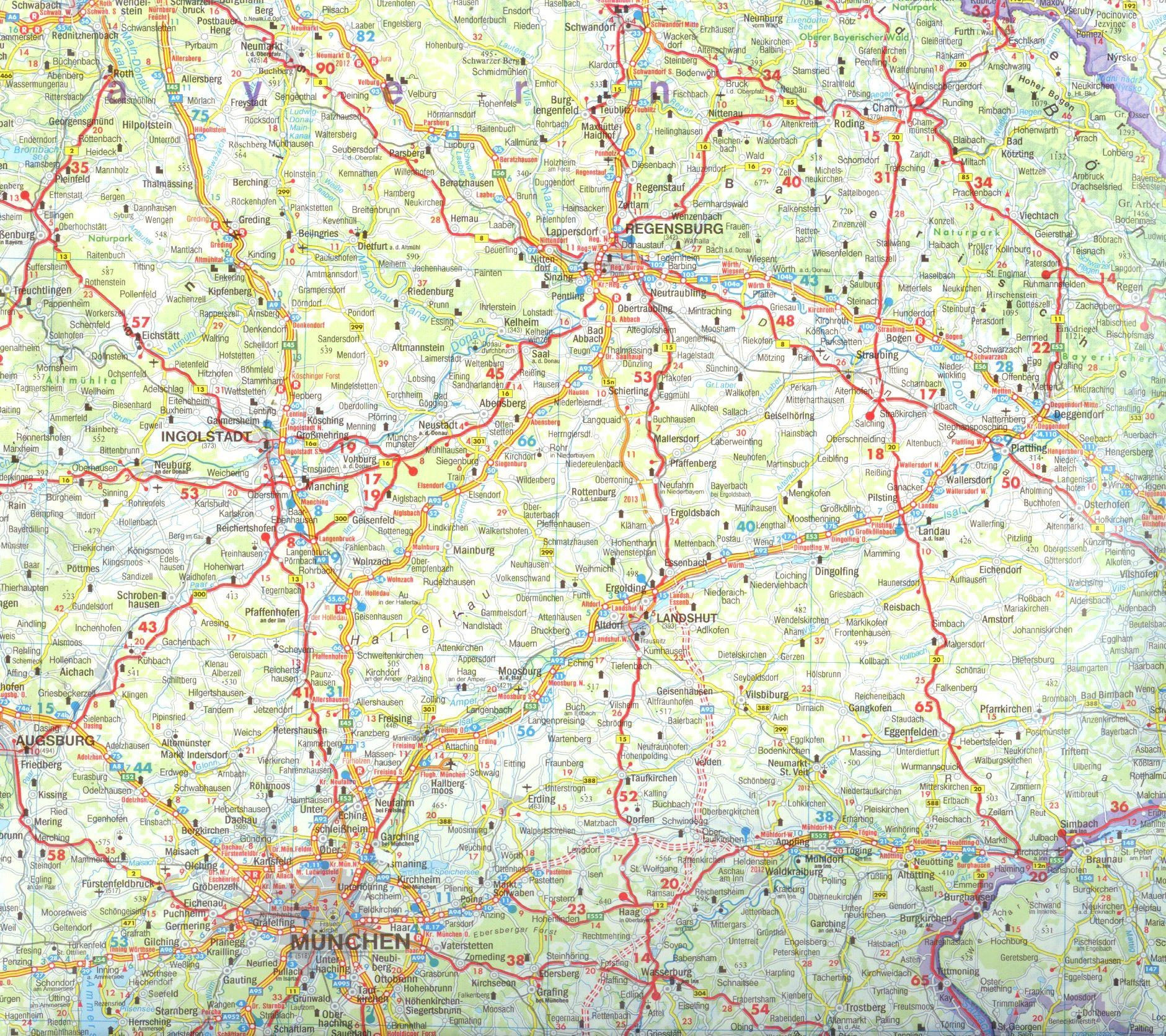Németország térkép minta