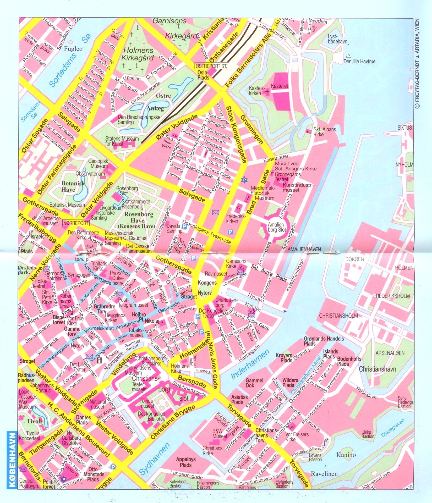 Dánia: várostérkép minta