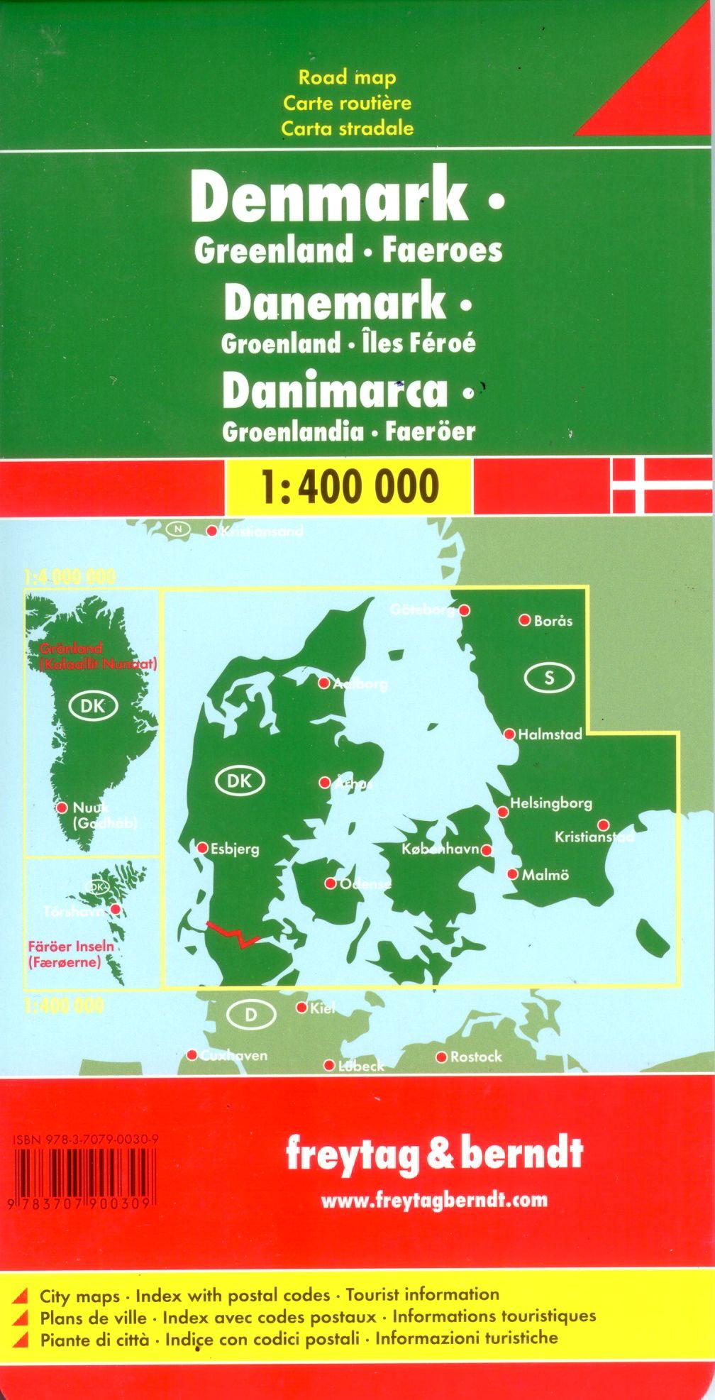 A Dánia térkép által lefedett terület