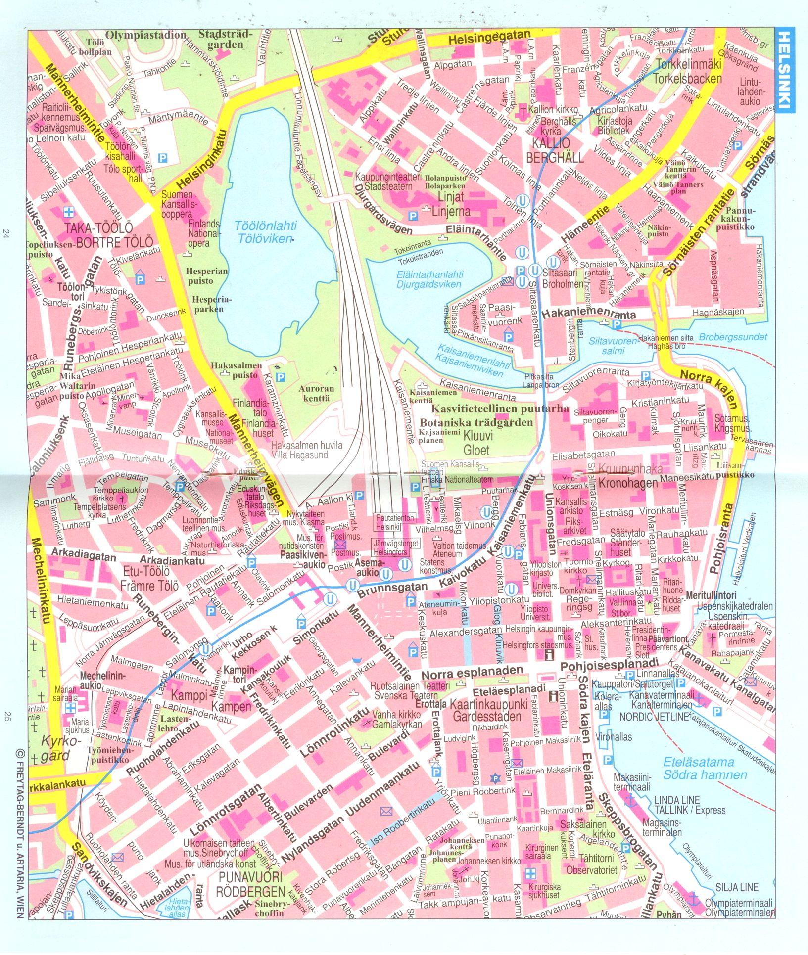 Finnország: várostérkép minta