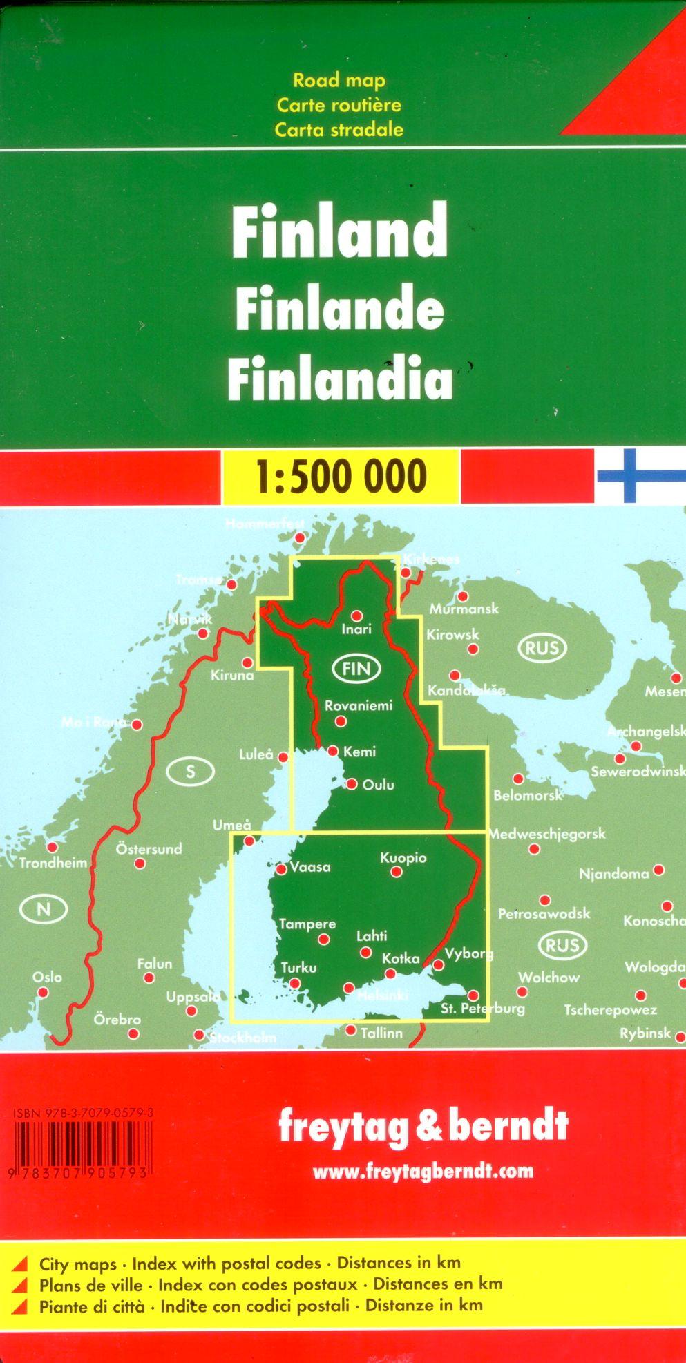 A Finnország térkép által lefedett terület