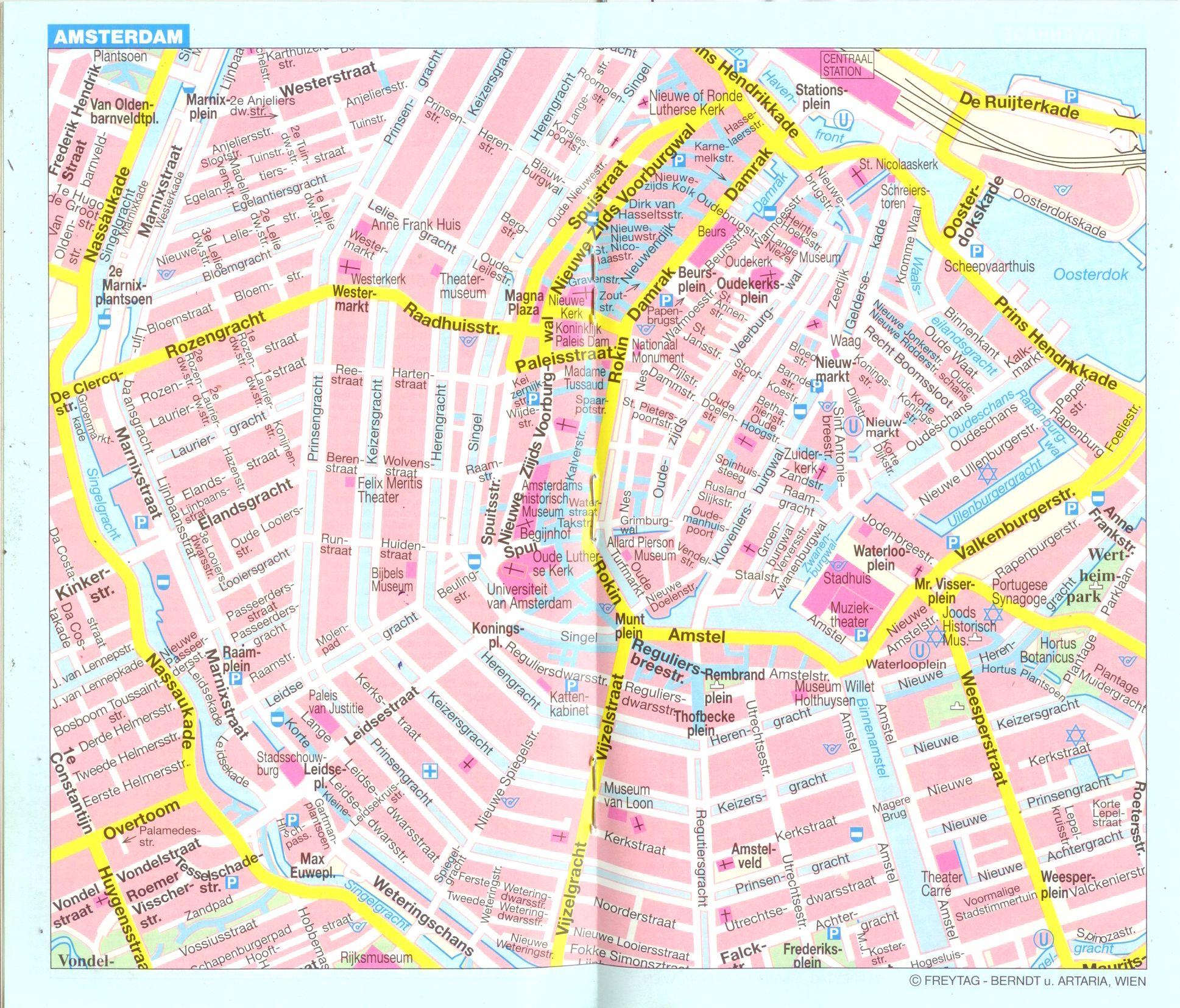 Hollandia: várostérkép minta