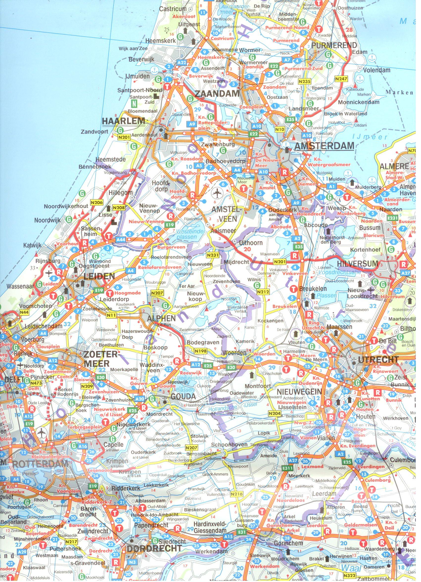 Hollandia autótérkép minta