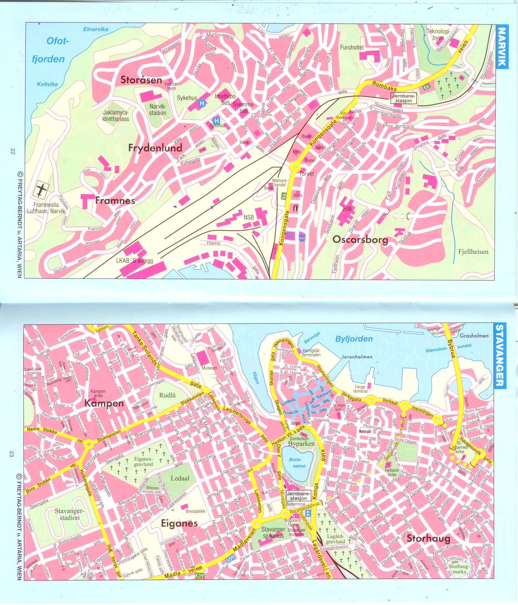 Norvégia: várostérkép minta