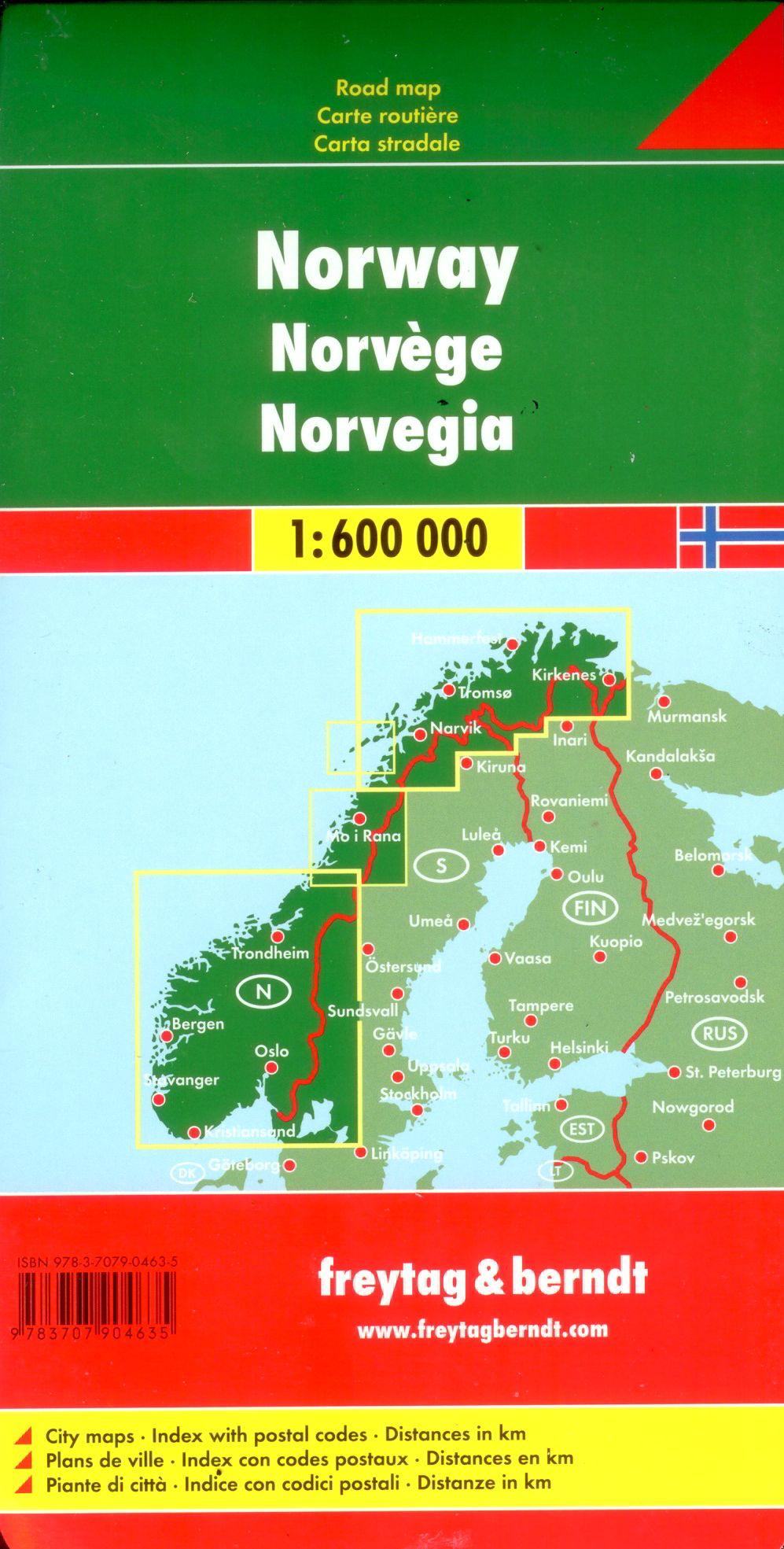 A Norvégia térkép által lefedett terület