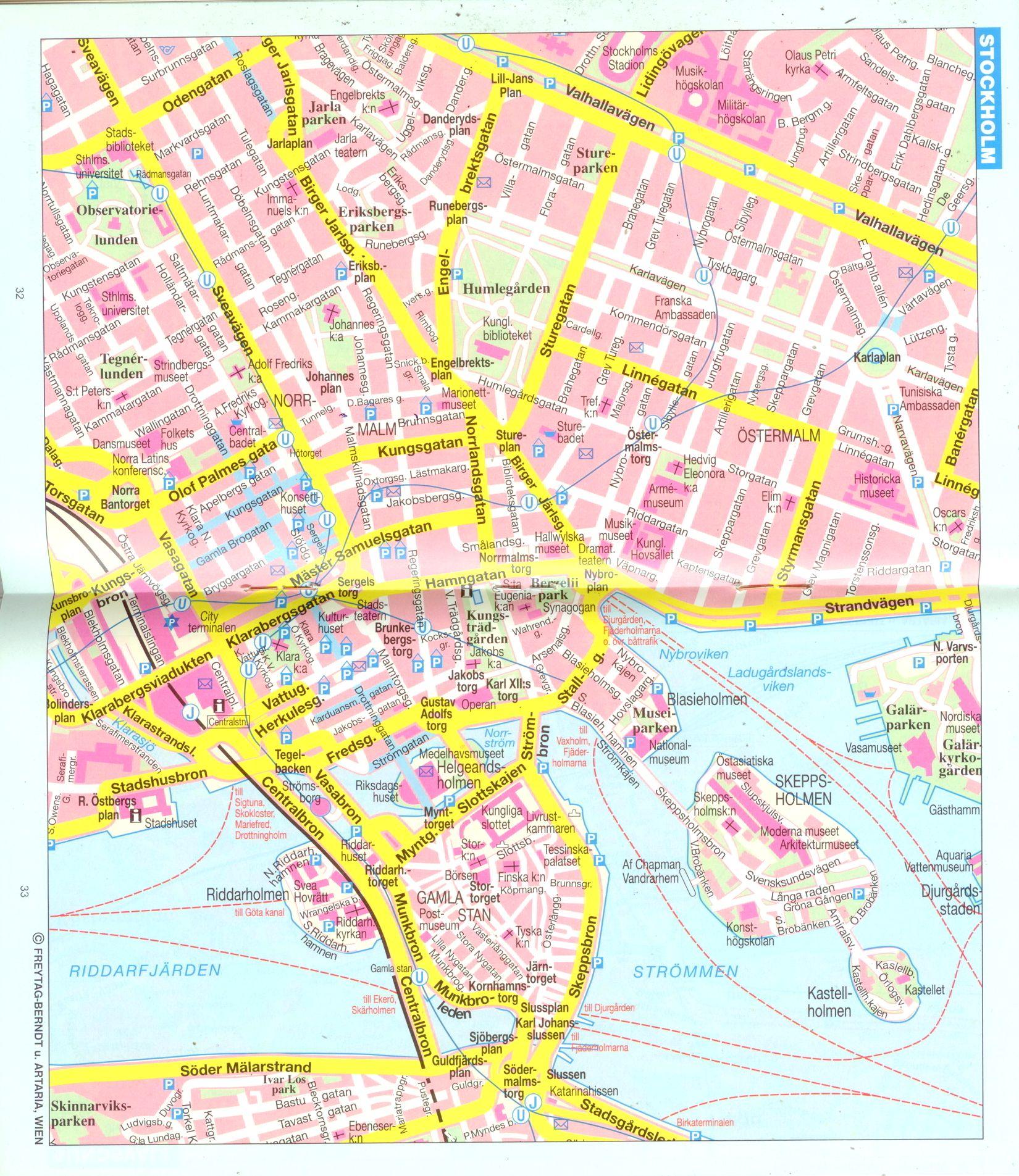 Svédország: várostérkép minta