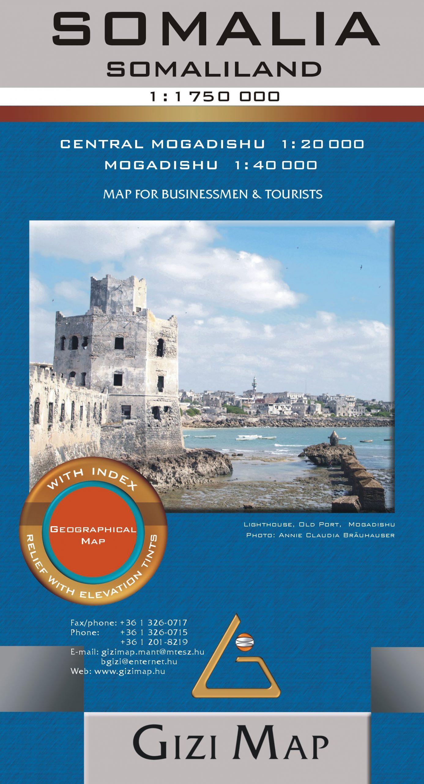 Mogadishu melléktérképpel