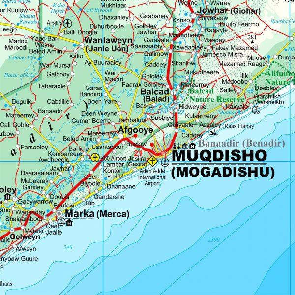 Szomália térképminta