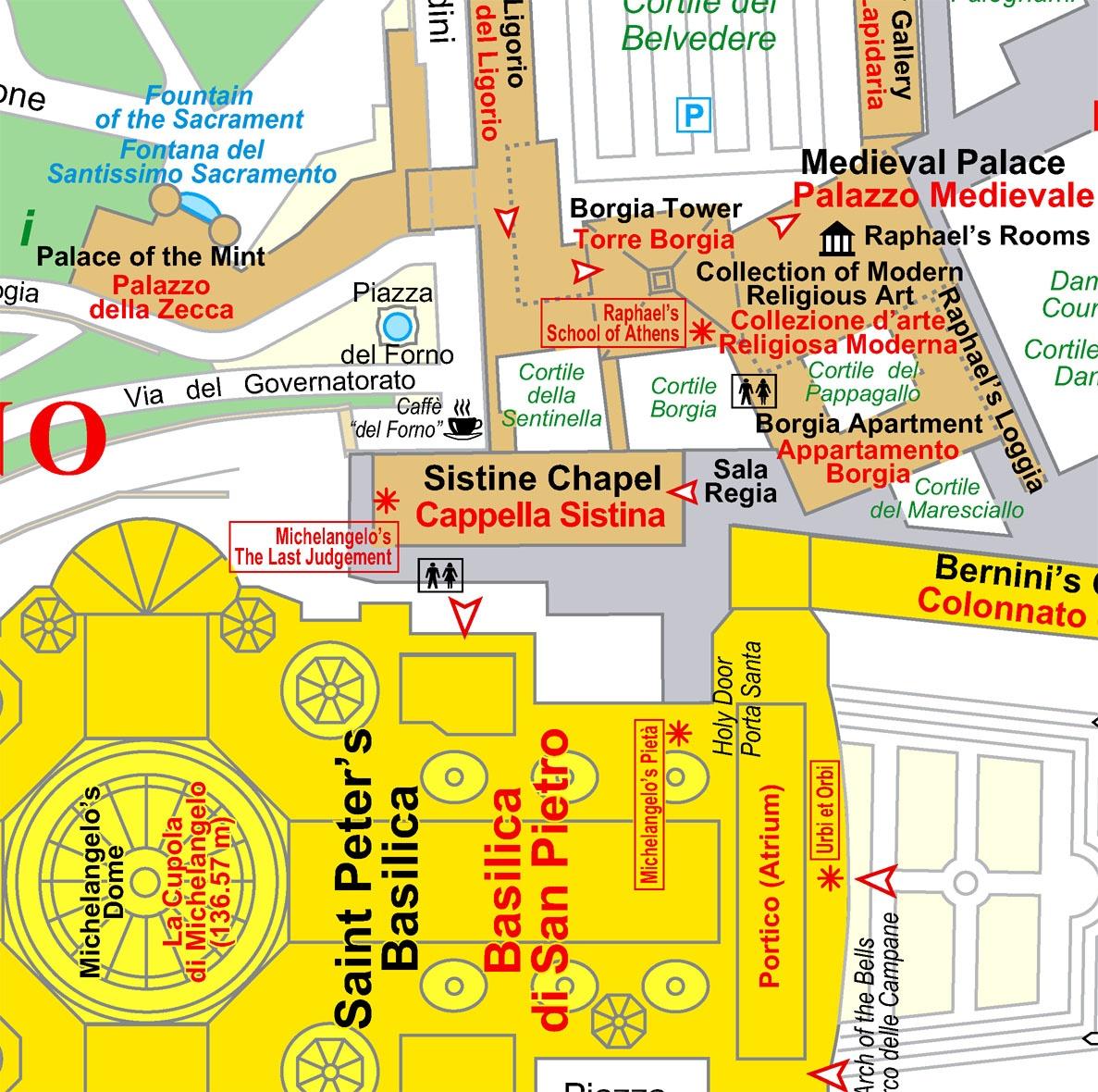 Vatican térkép minta