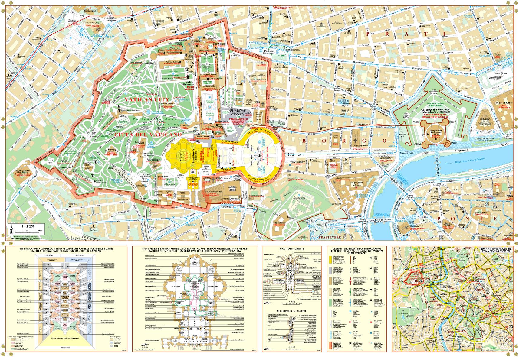 A Vatican várostérkép által lefedett terület