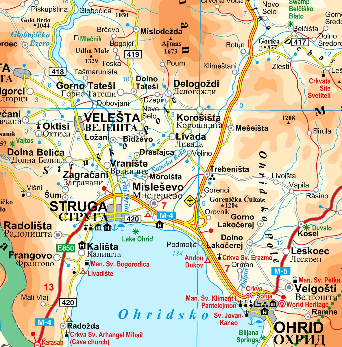 Macedónia térképminta