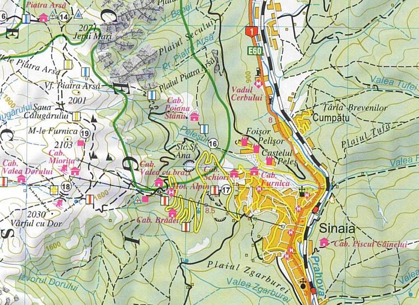 Kárpát-kanyar térképminta