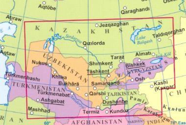 Közép-Ázsia a világtérképen