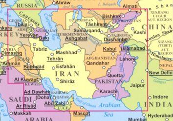 A Selyemút országai a világtérképen