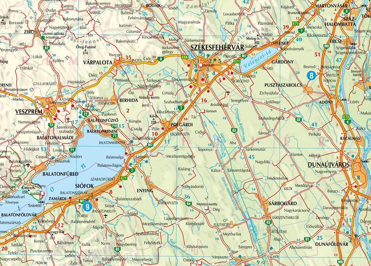 Magyarország autótérképe, Balaton környéke