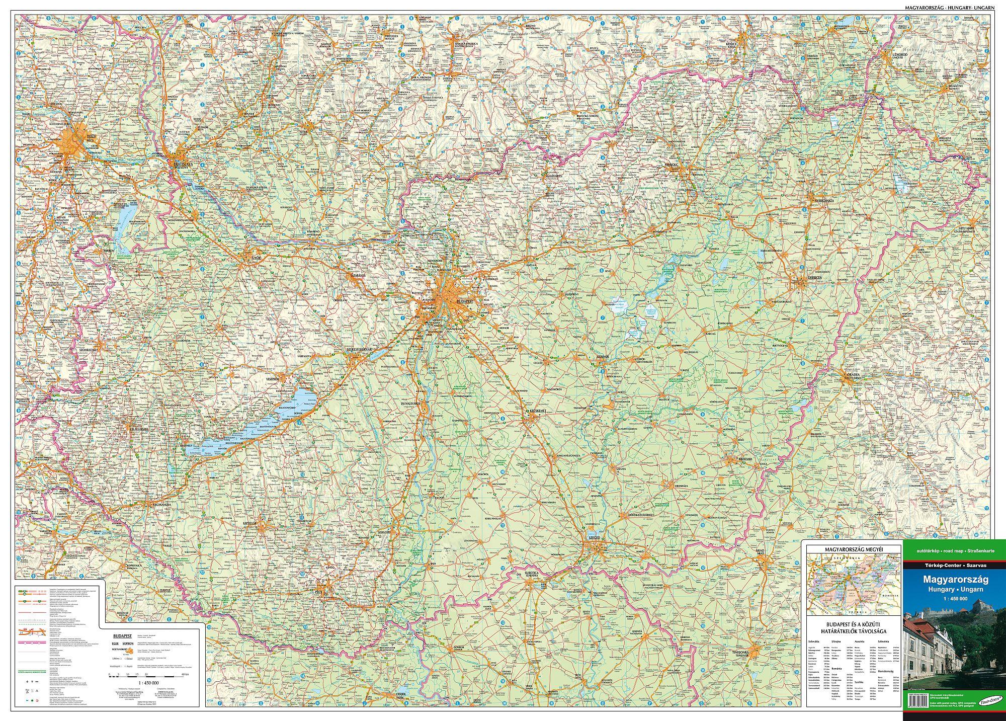 Magyarország részletes GPS kompatibilis autótérképe mobil eszközökre