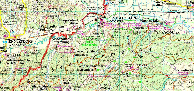 Vas megye: Szentgotthárd környéke 1:100.000