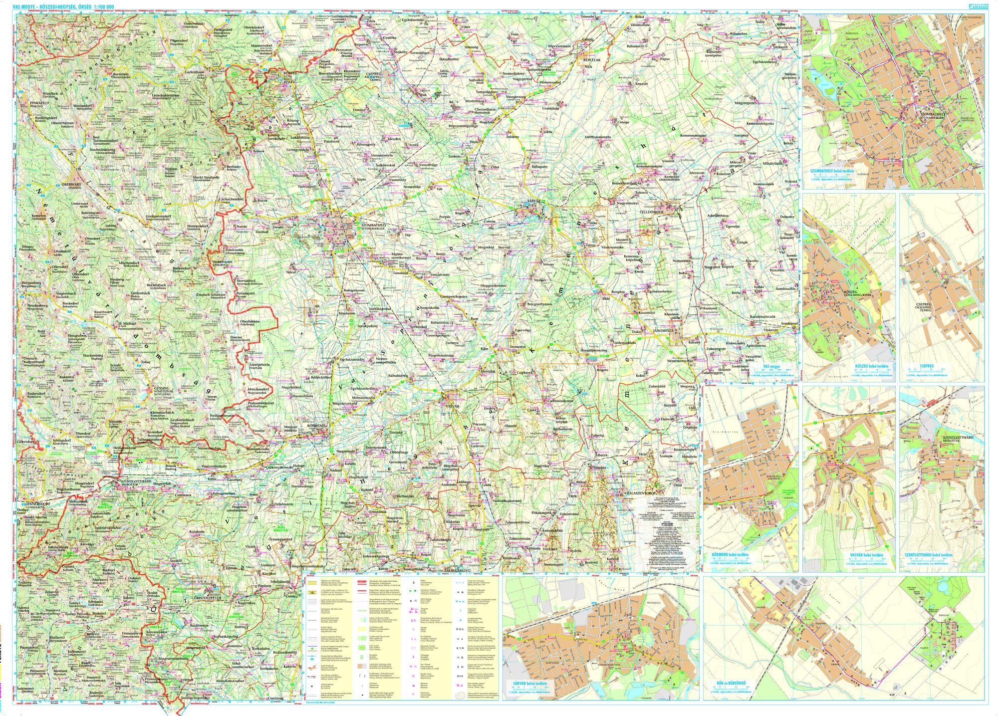 Részletes turista-biciklis térkép mobil eszközökre