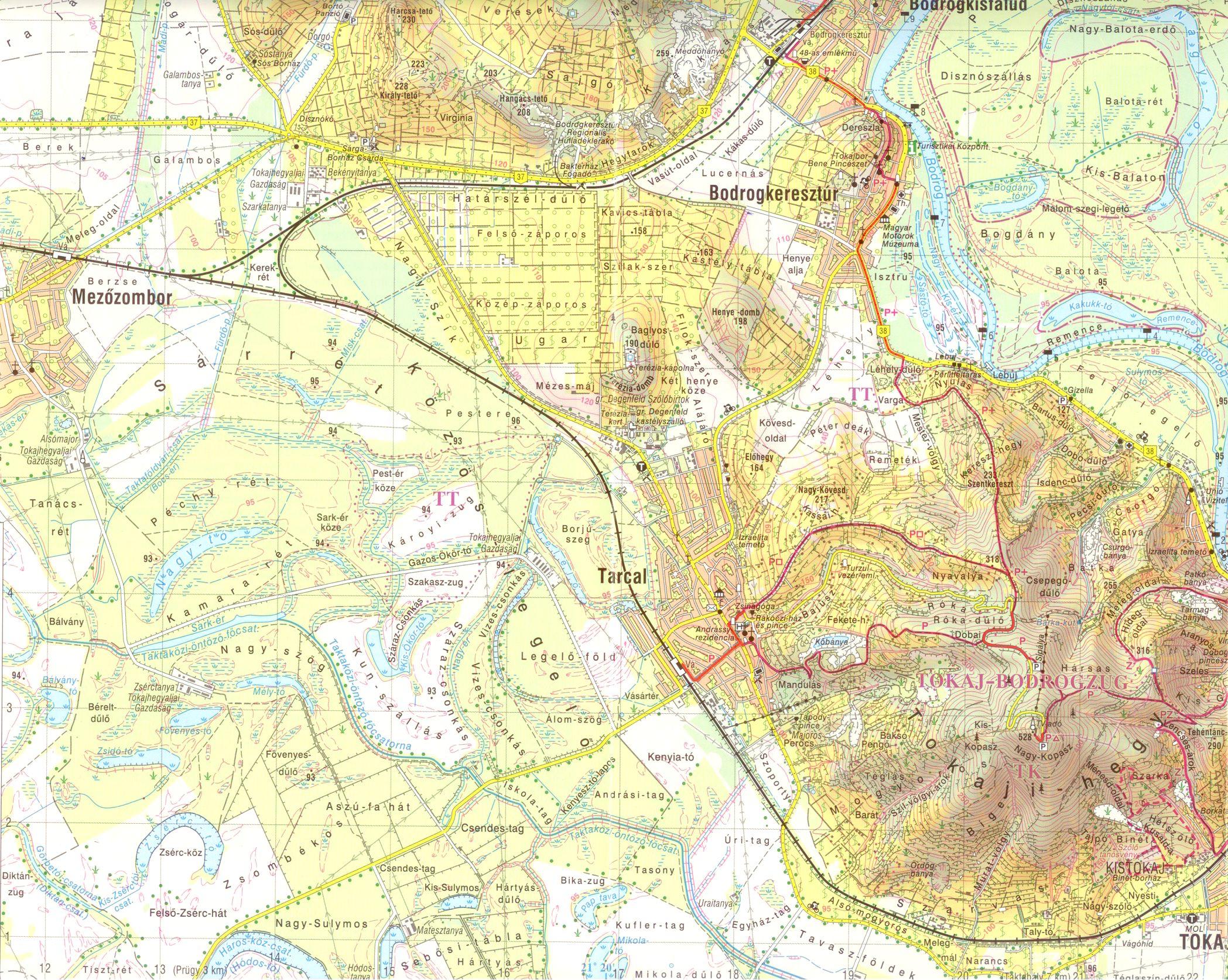 Zempléni-hegység: Tokaj környéke 1:40.000
