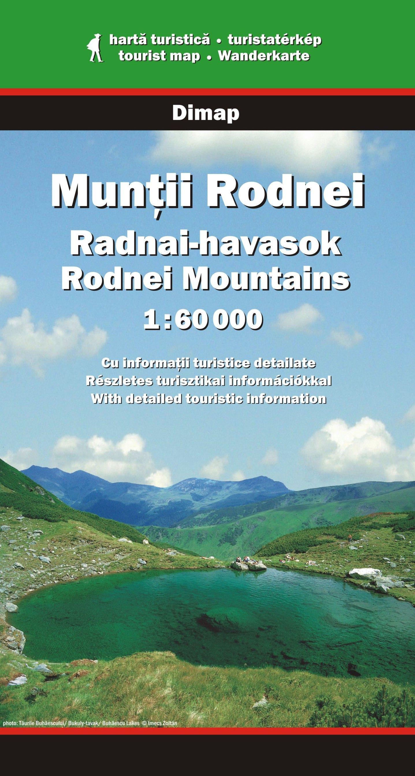 Részletes turista információ és jelmagyarázat négy nyelven (magyar, román, angol, német)
