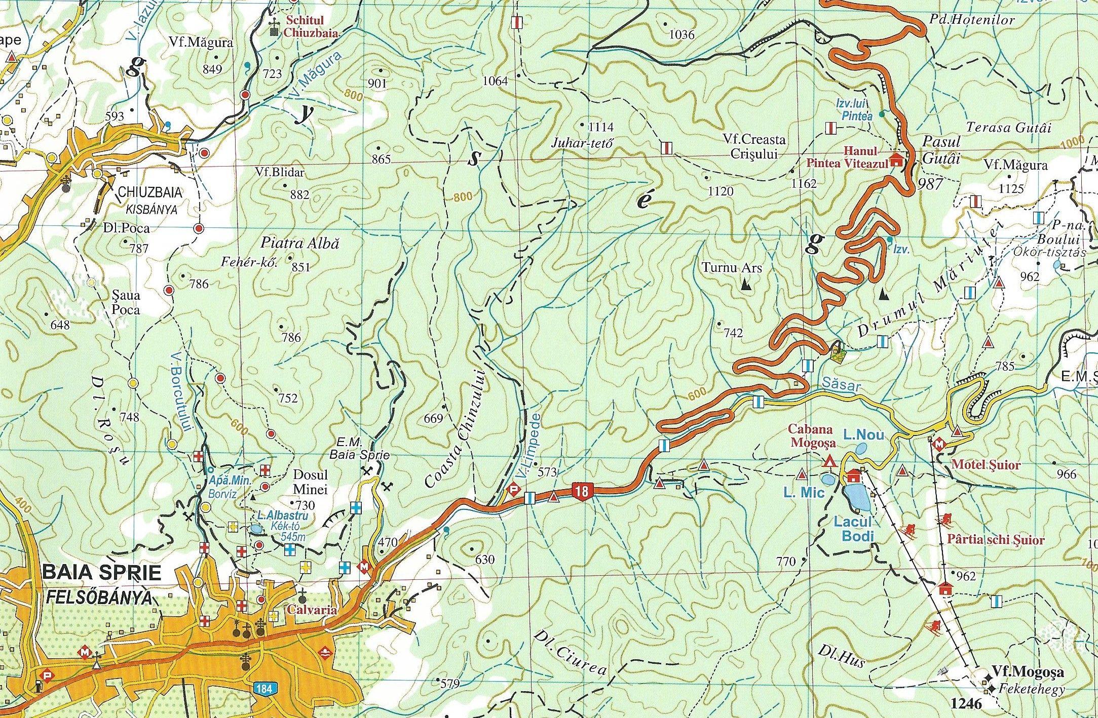 Rozsály, Kőhát és Gutin térkép minta