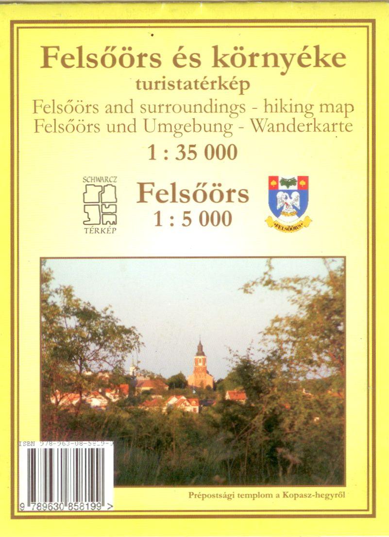 Felsőörs várostérképpel (1:5.000) és nevezetességjegyzékkel