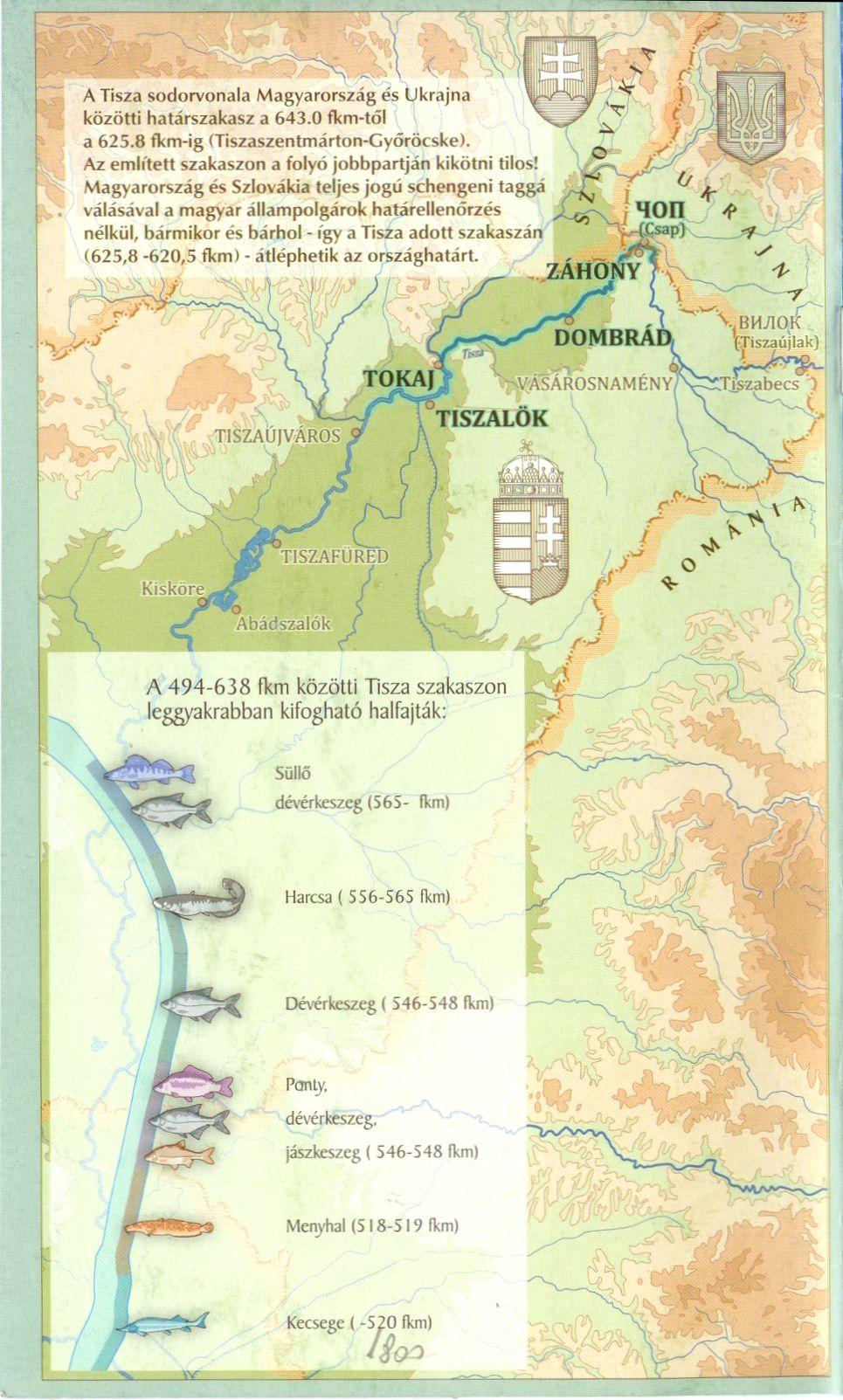 Tisza 638-494 fkm 1:35.000 áttekintő térkép
