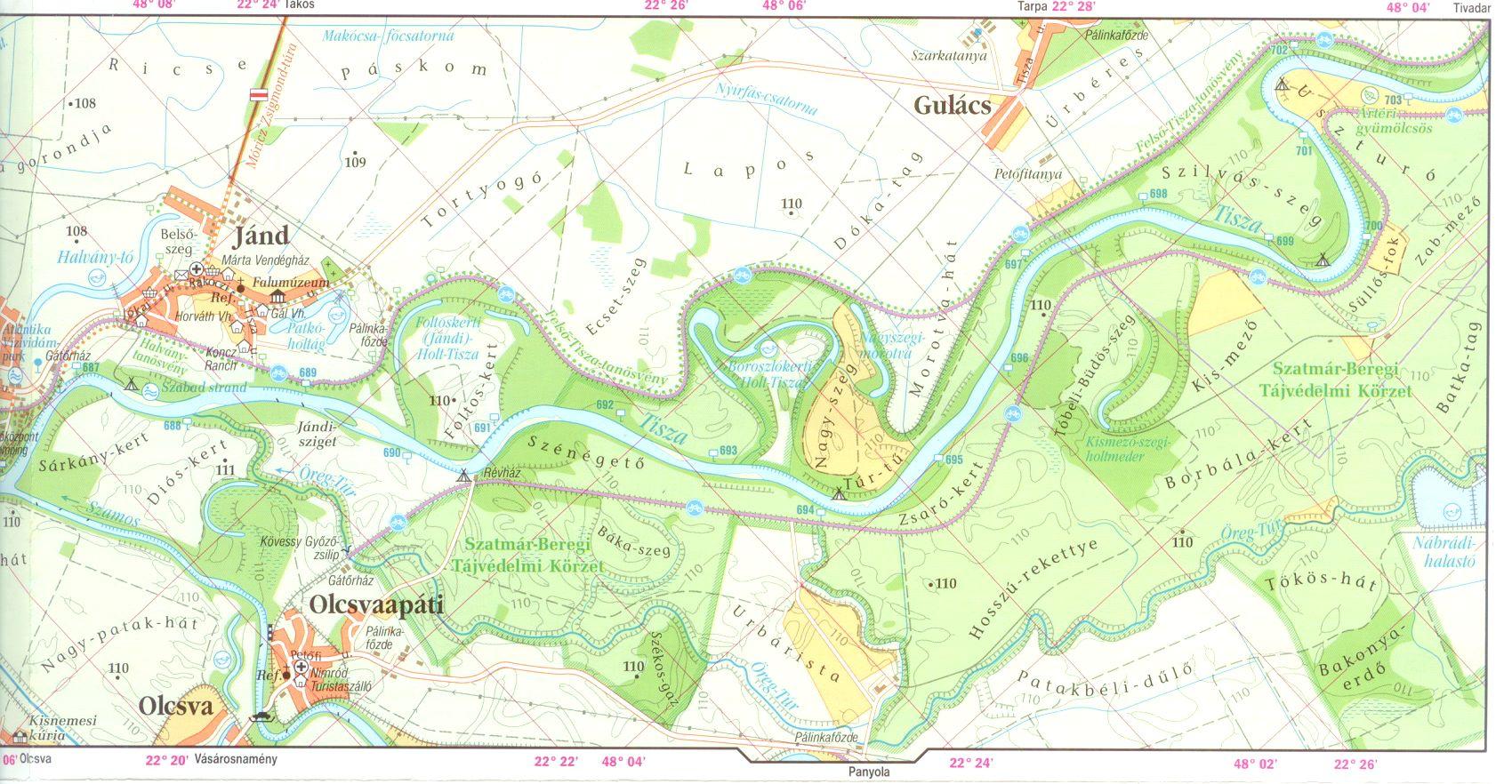Tisza 744-633 fkm 1:60.000 mintatérkép