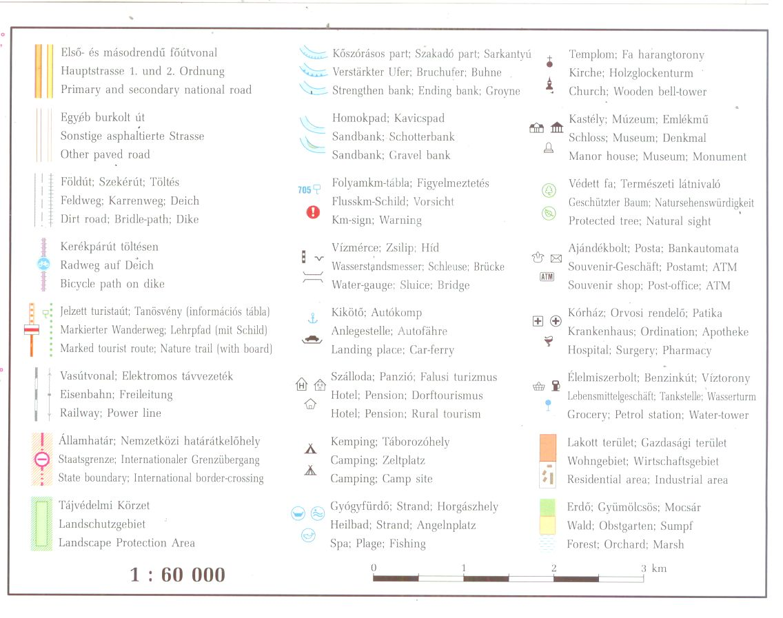 Tisza 744-633 fkm 1:60.000 jelmagyarázat