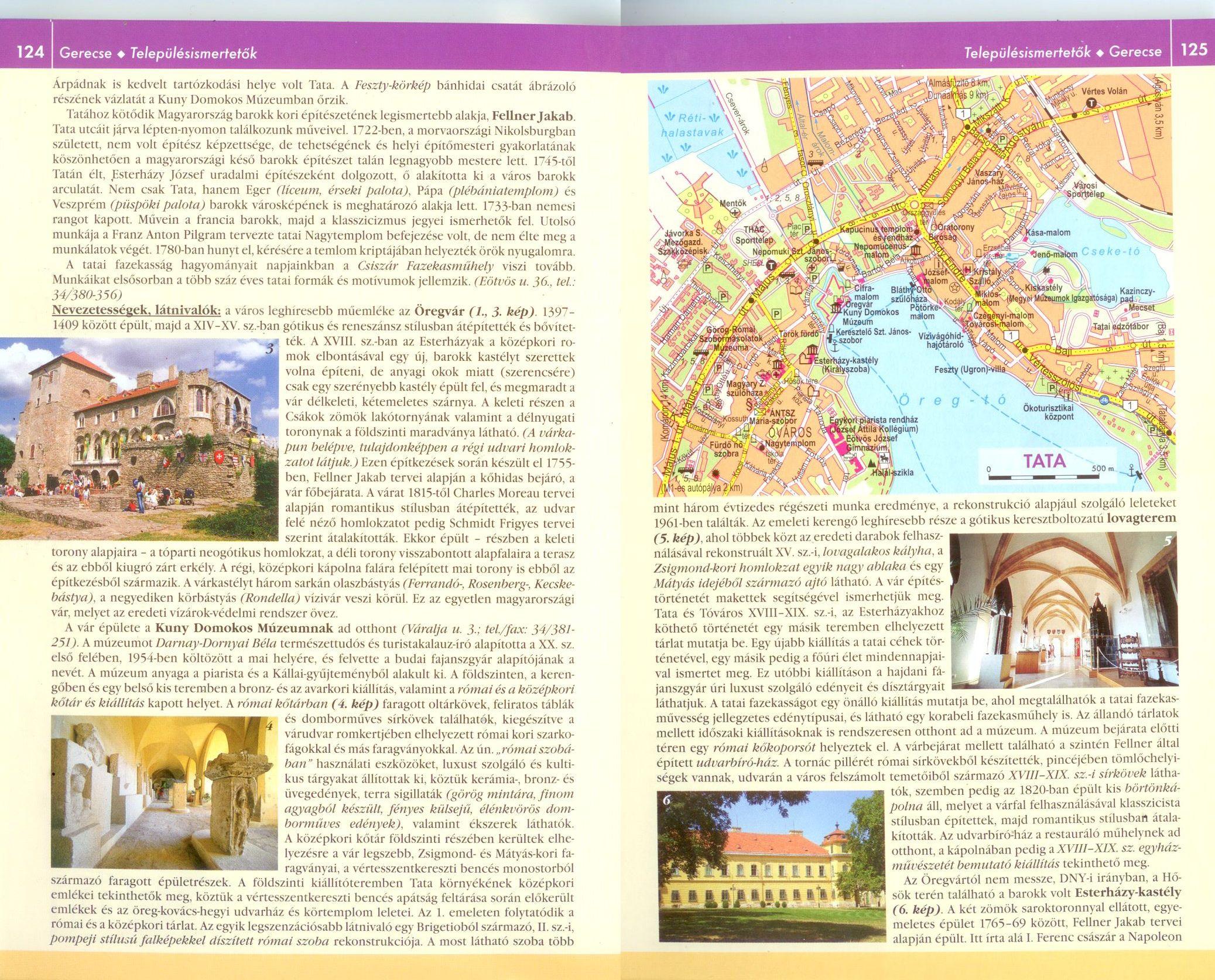 A Gerecse, Vértes, Velencei-hg atlasz szöveges mintalapja