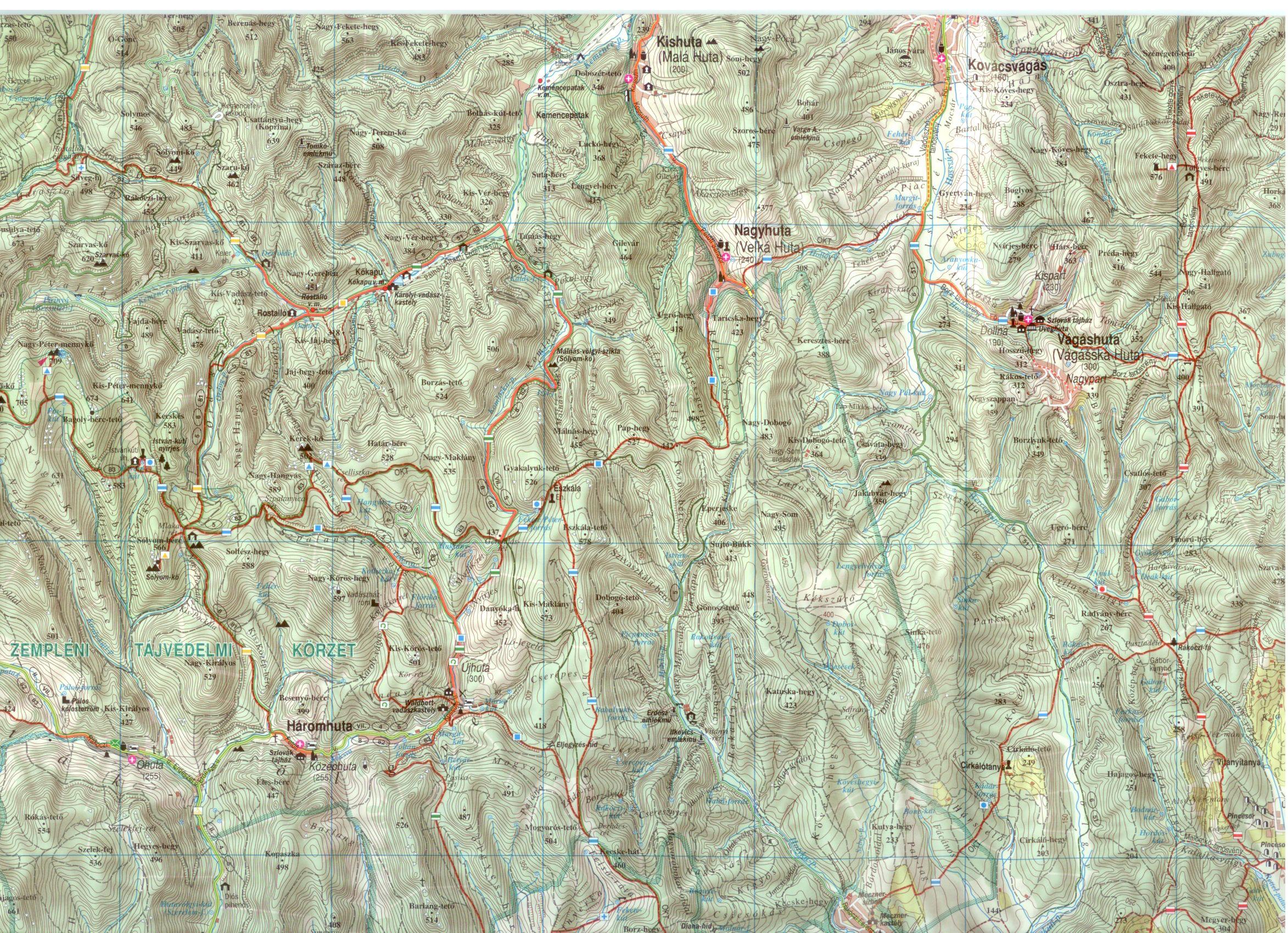 Zempléni-hegység 1:50.000 mintakivágat