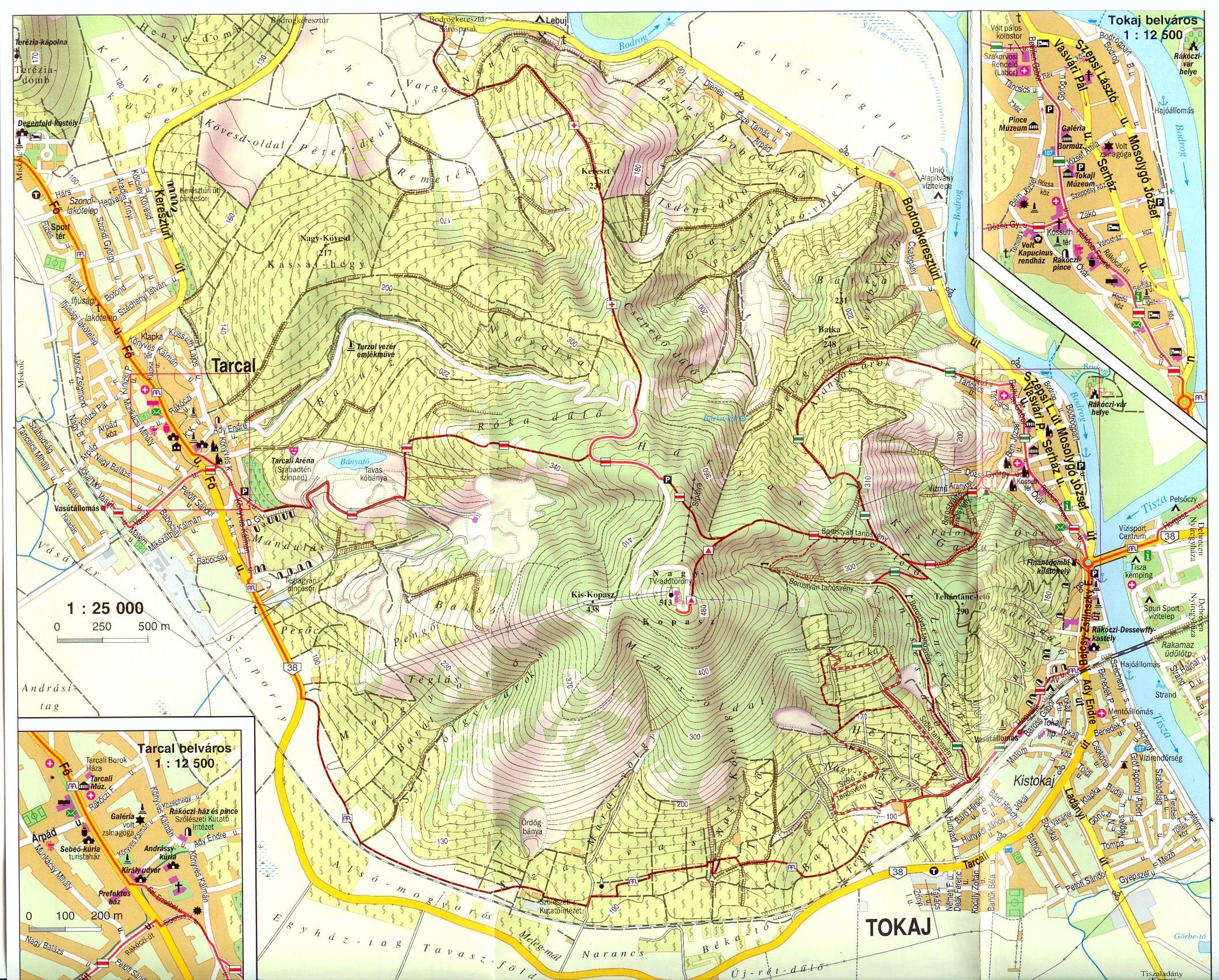 Zempléni-hegység: Tokaj 1:25.000