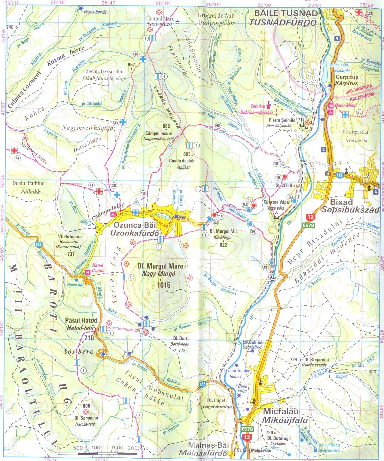 Hargita térkép minta