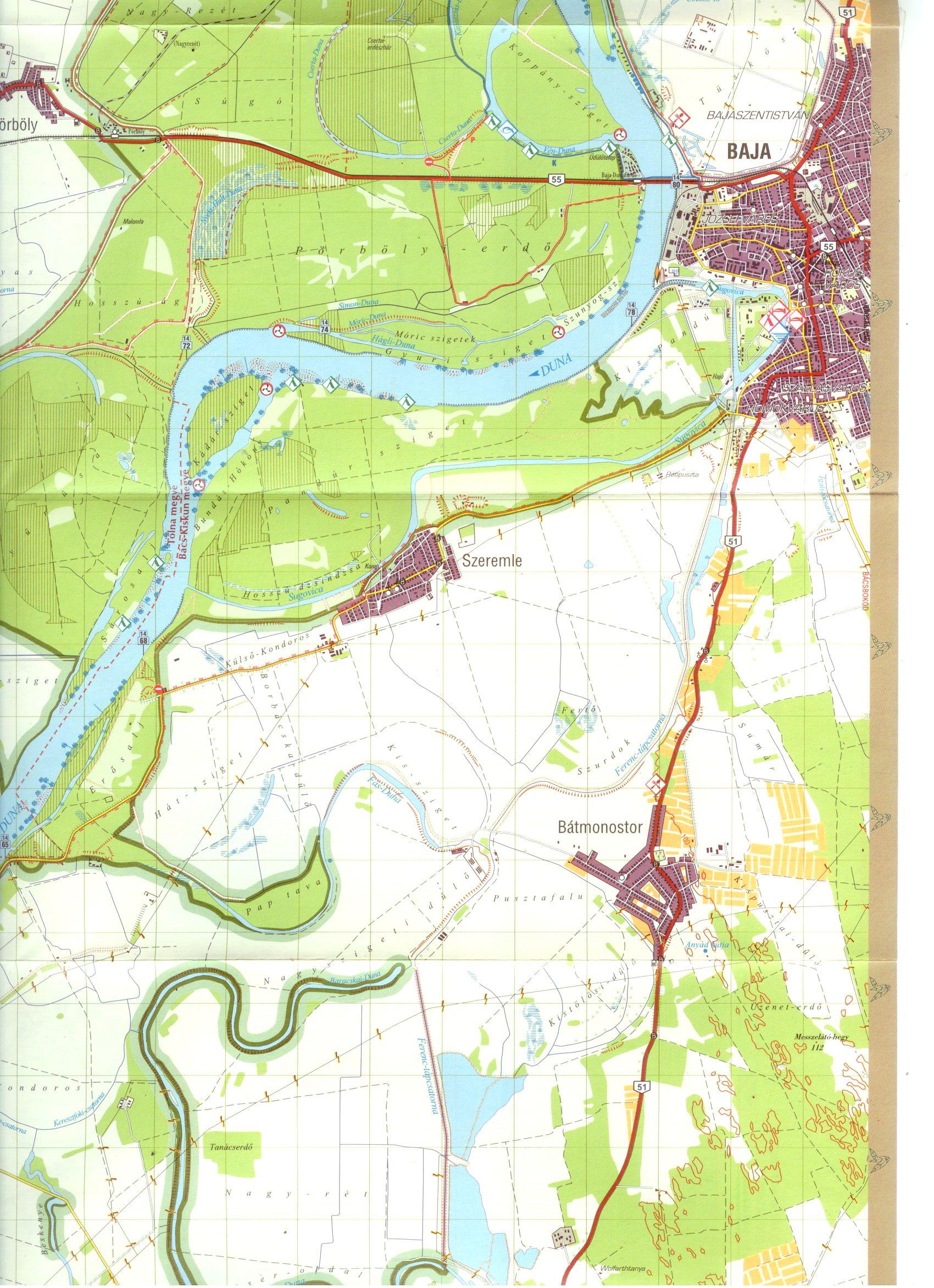 Duna-Dráva NP Mohácsi-sziget mintatérképe