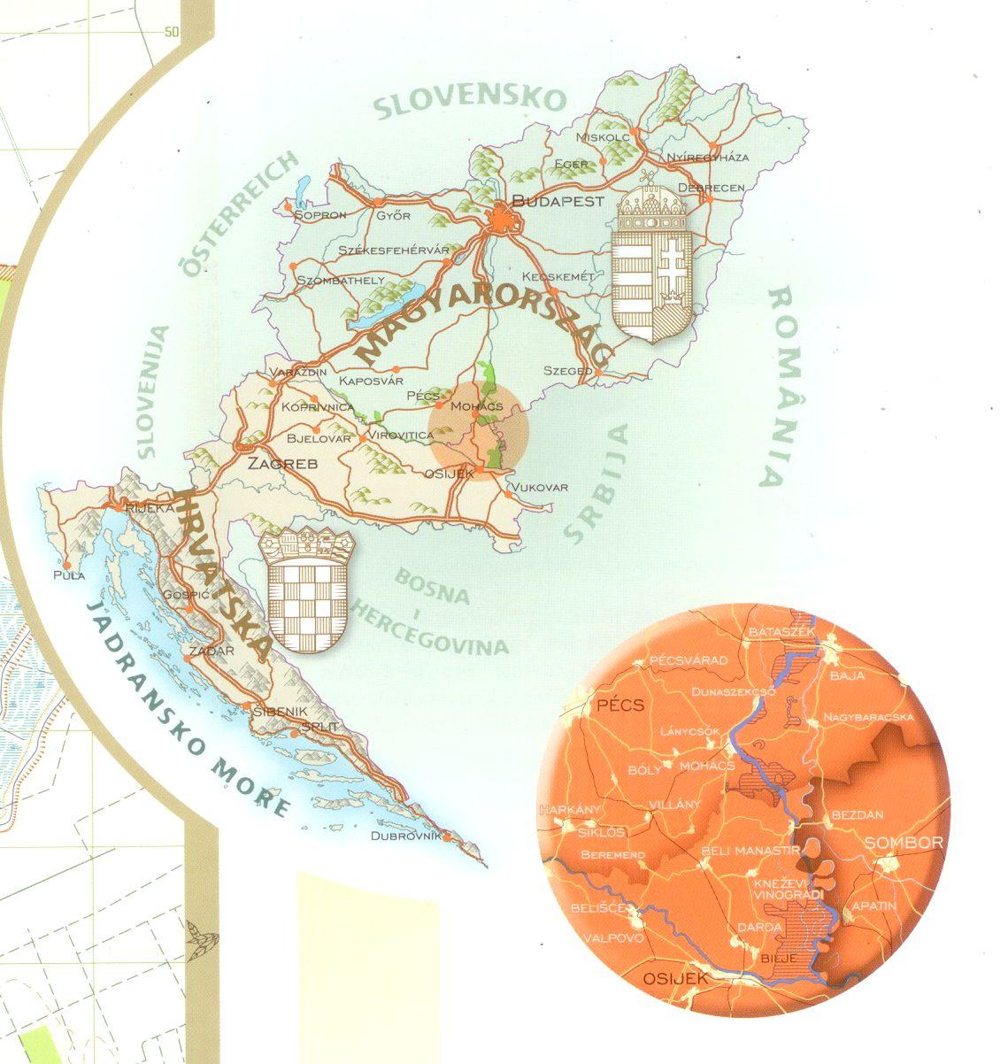 Duna-Dráva NP 2 térkép által lefedett terület