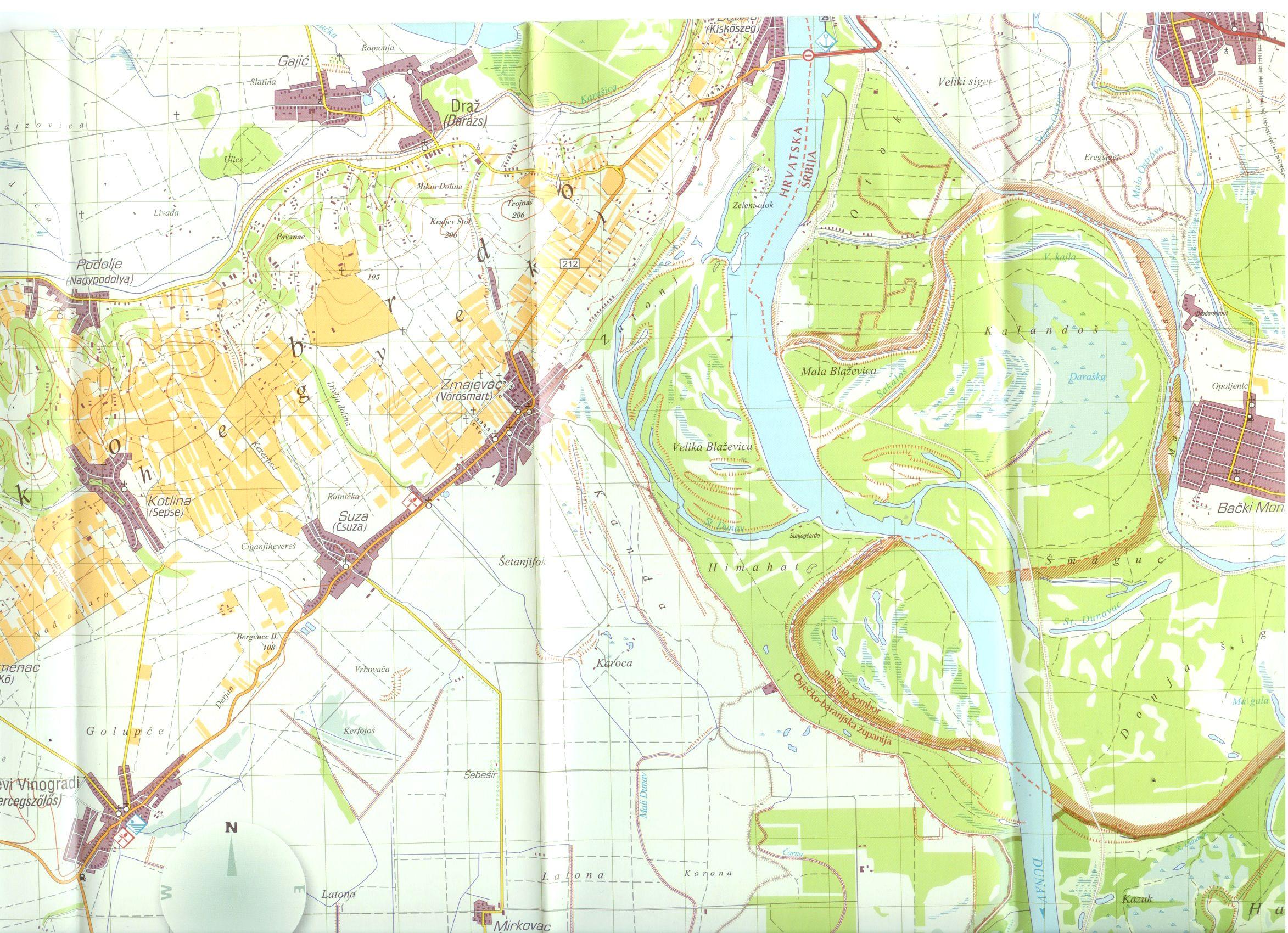 Duna-Dráva NP 2 térkép mintakivágata